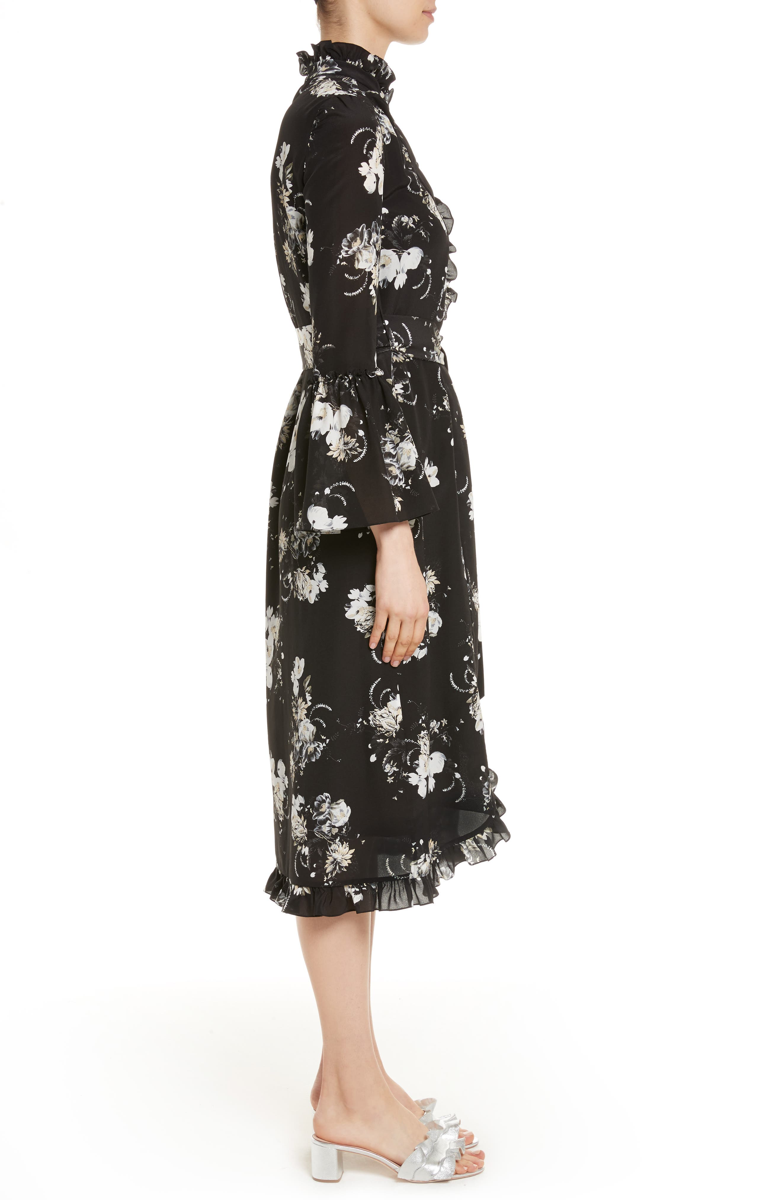 Alternate Image 3  - Erdem Floral Silk Ruffle Dress