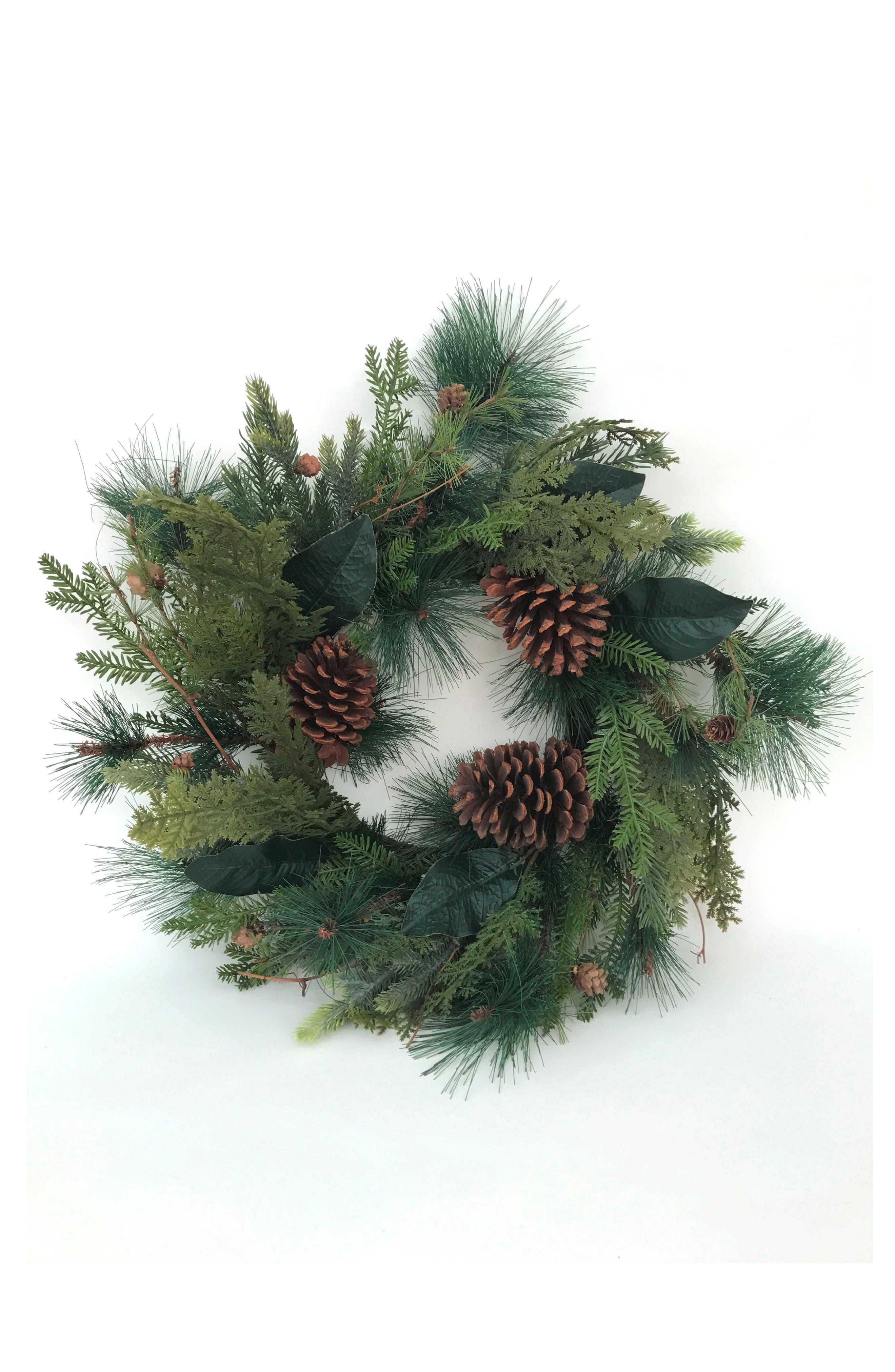 Pine Wreath,                         Main,                         color, Green