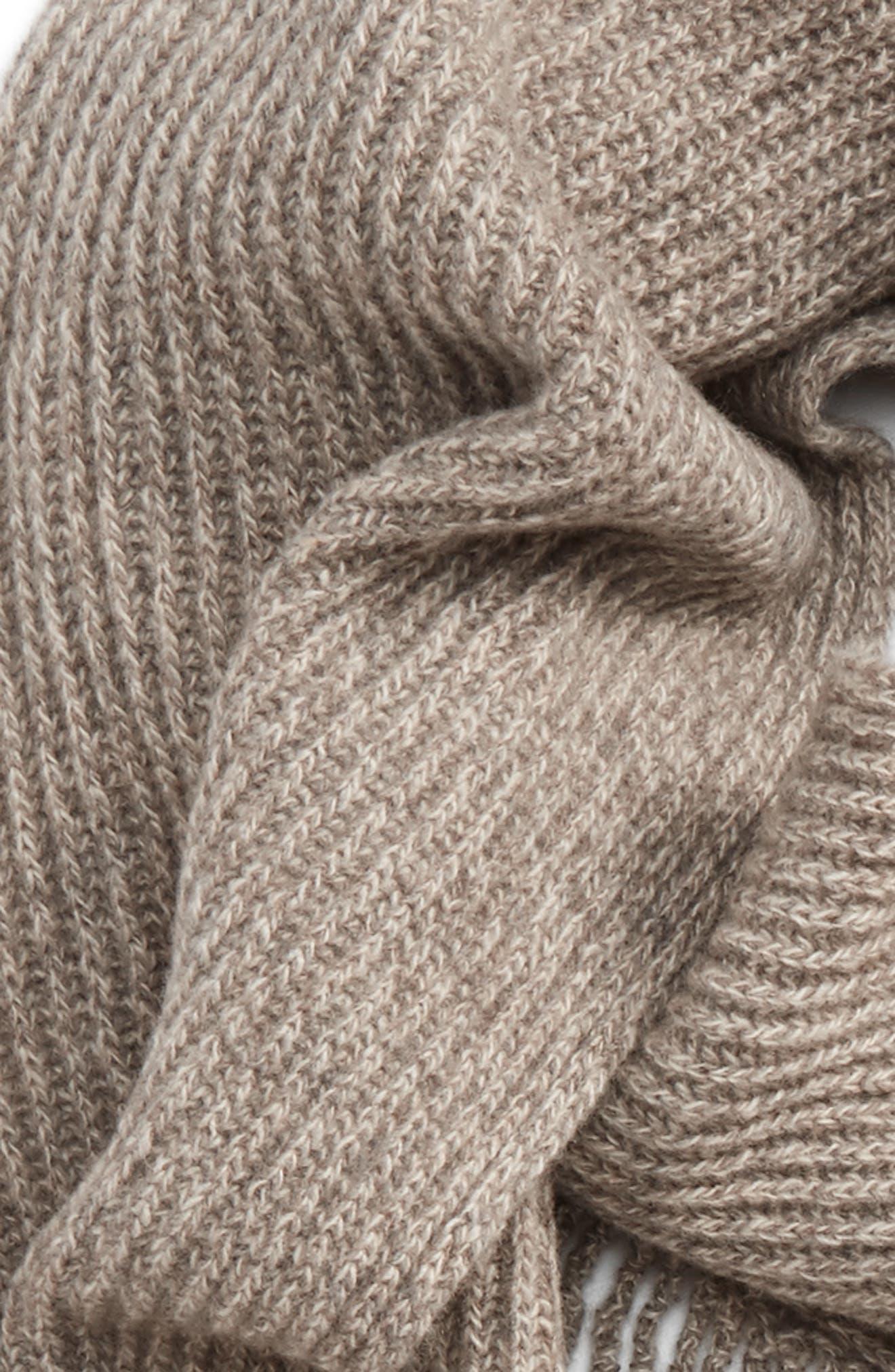 Alternate Image 3  - Stella McCartney Fringe Cashmere & Wool Scarf