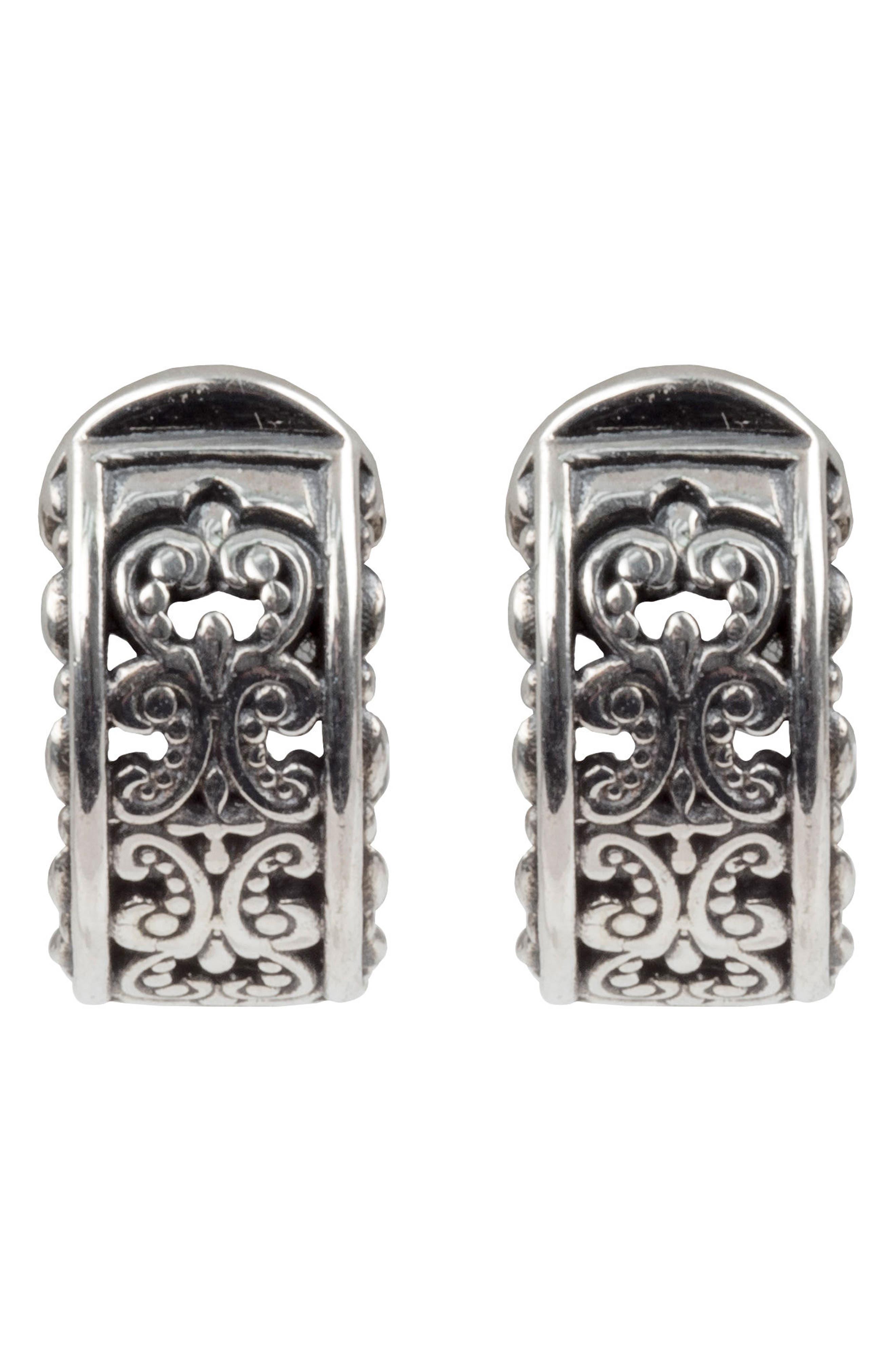 Alternate Image 1 Selected - Konstantino Etch J-Hoop Earrings