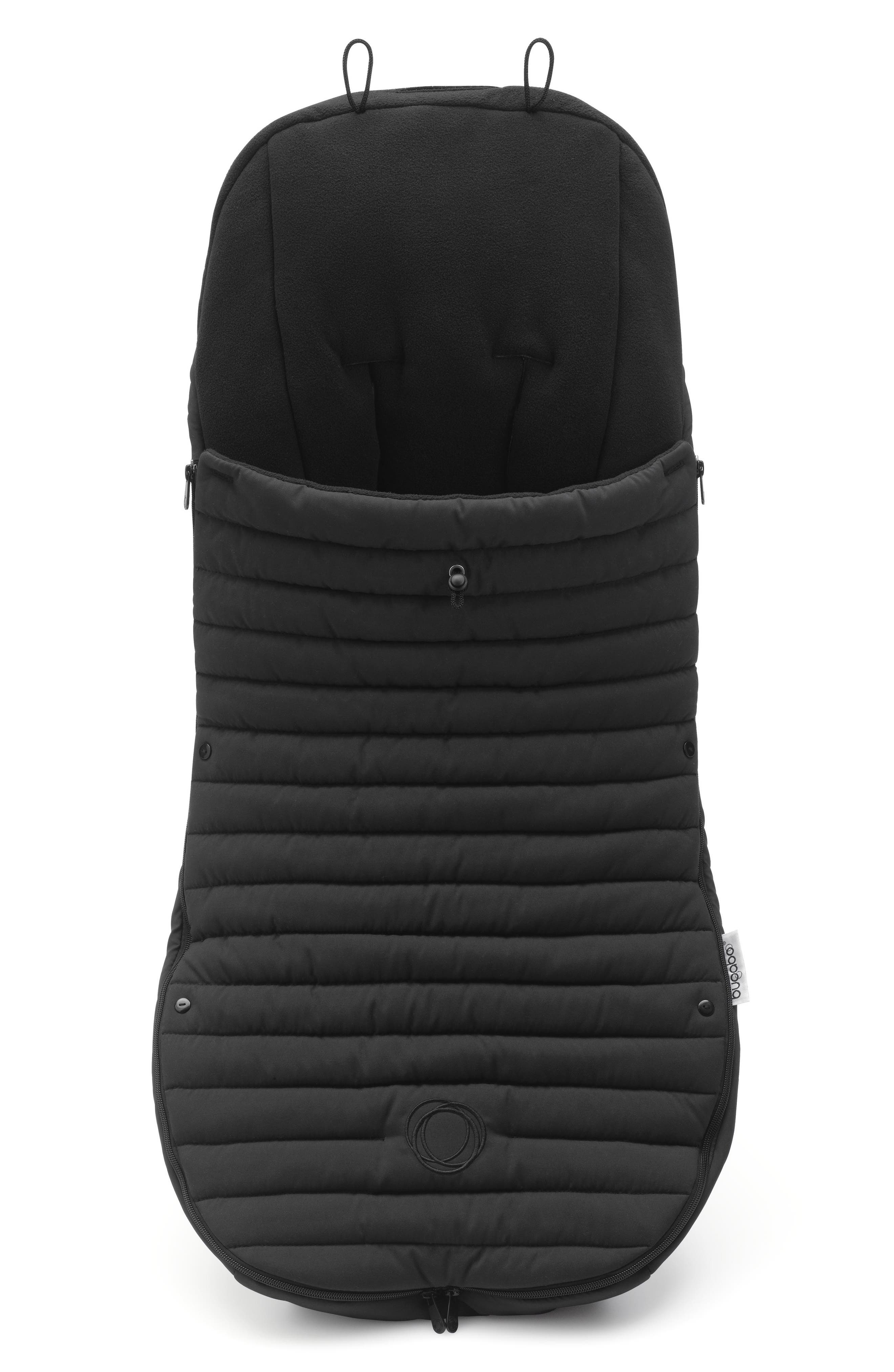 Atelier Collection Stroller Footmuff,                             Main thumbnail 1, color,                             Black