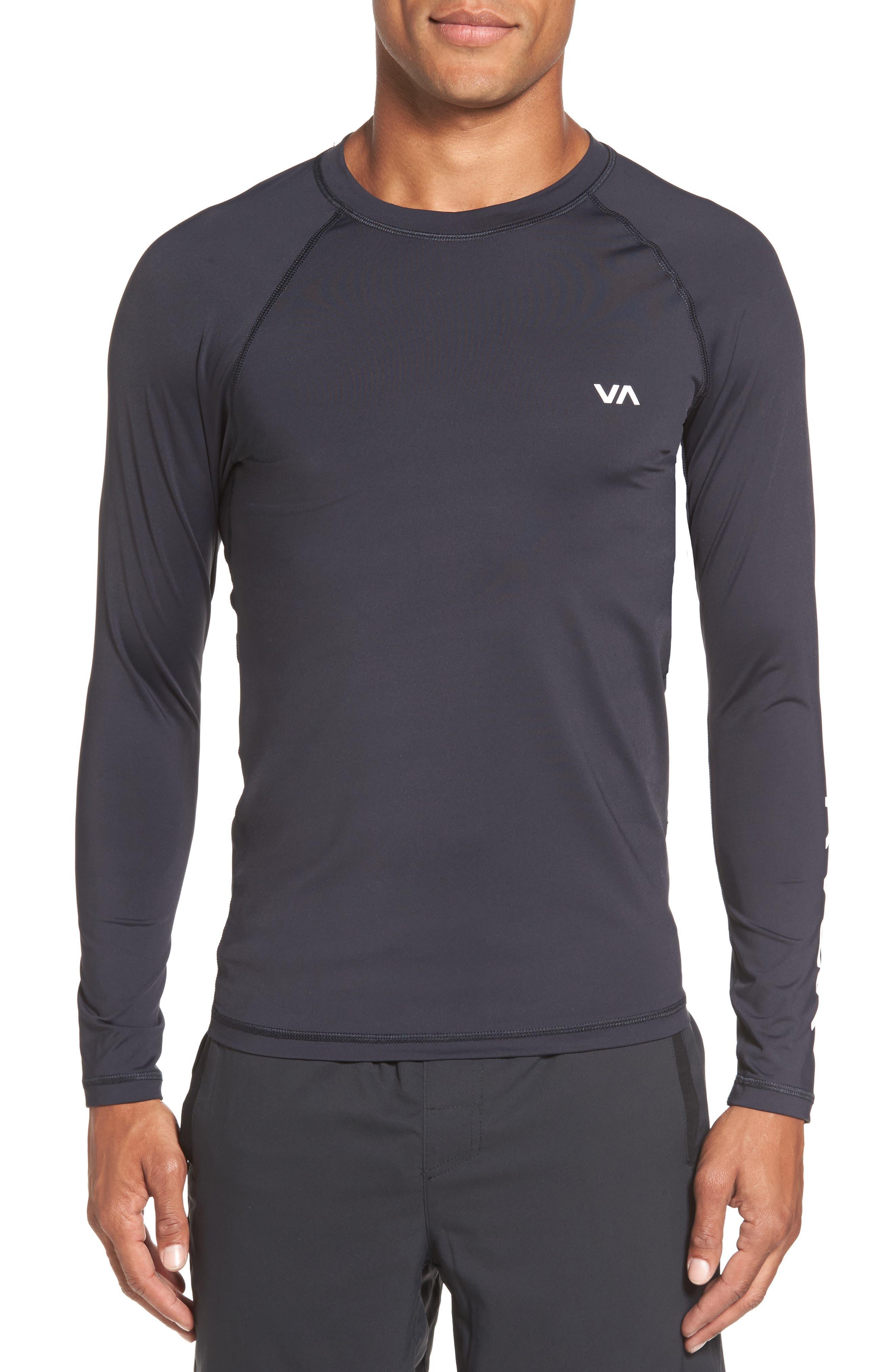 VA Sport Compression Shirt,                         Main,                         color, Black
