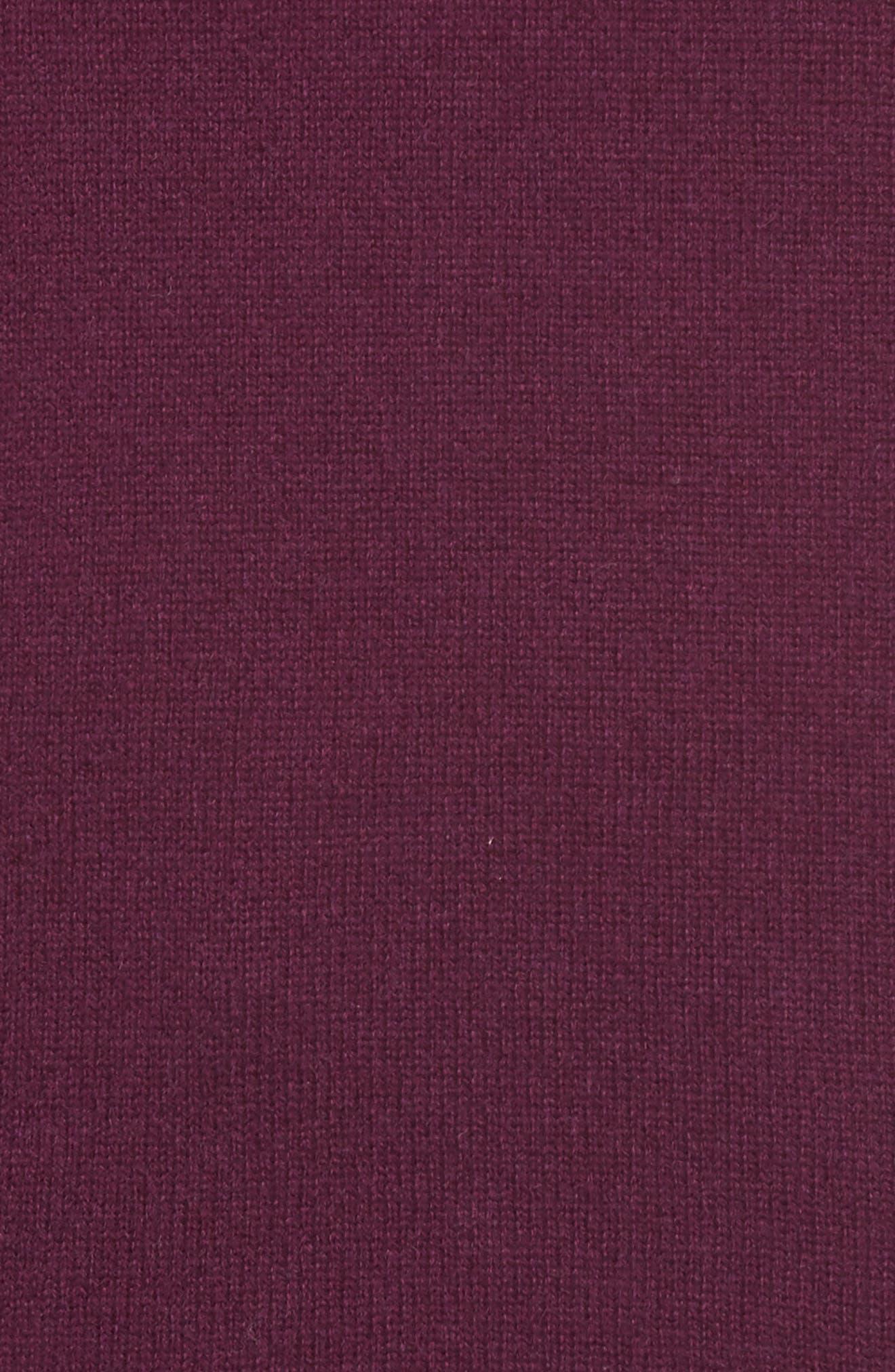 Alternate Image 5  - Halogen® V-Neck Cashmere Sweater (Regular & Petite)