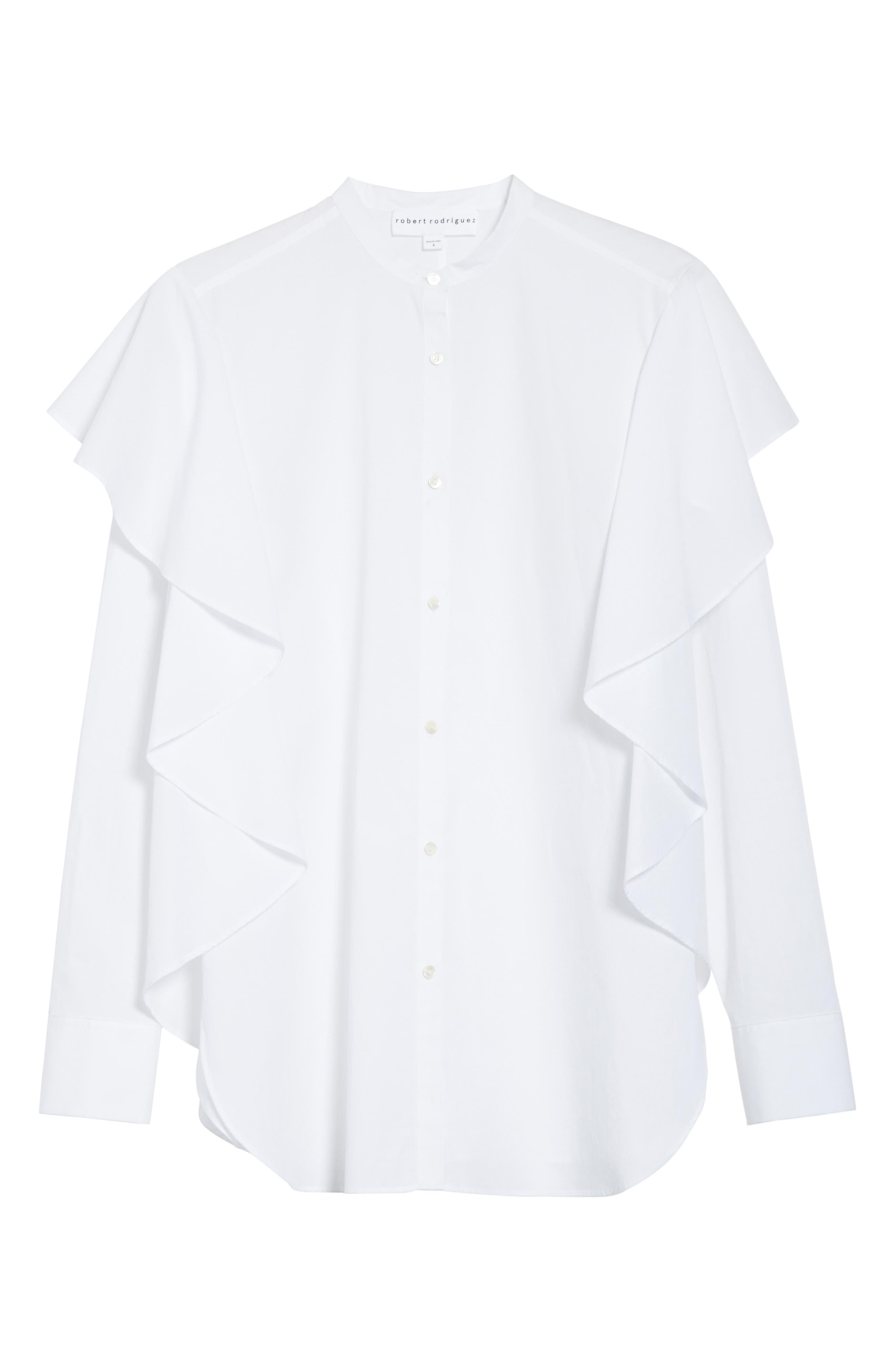 Alternate Image 6  - Robert Rodriguez Ruffle Cotton Shirt