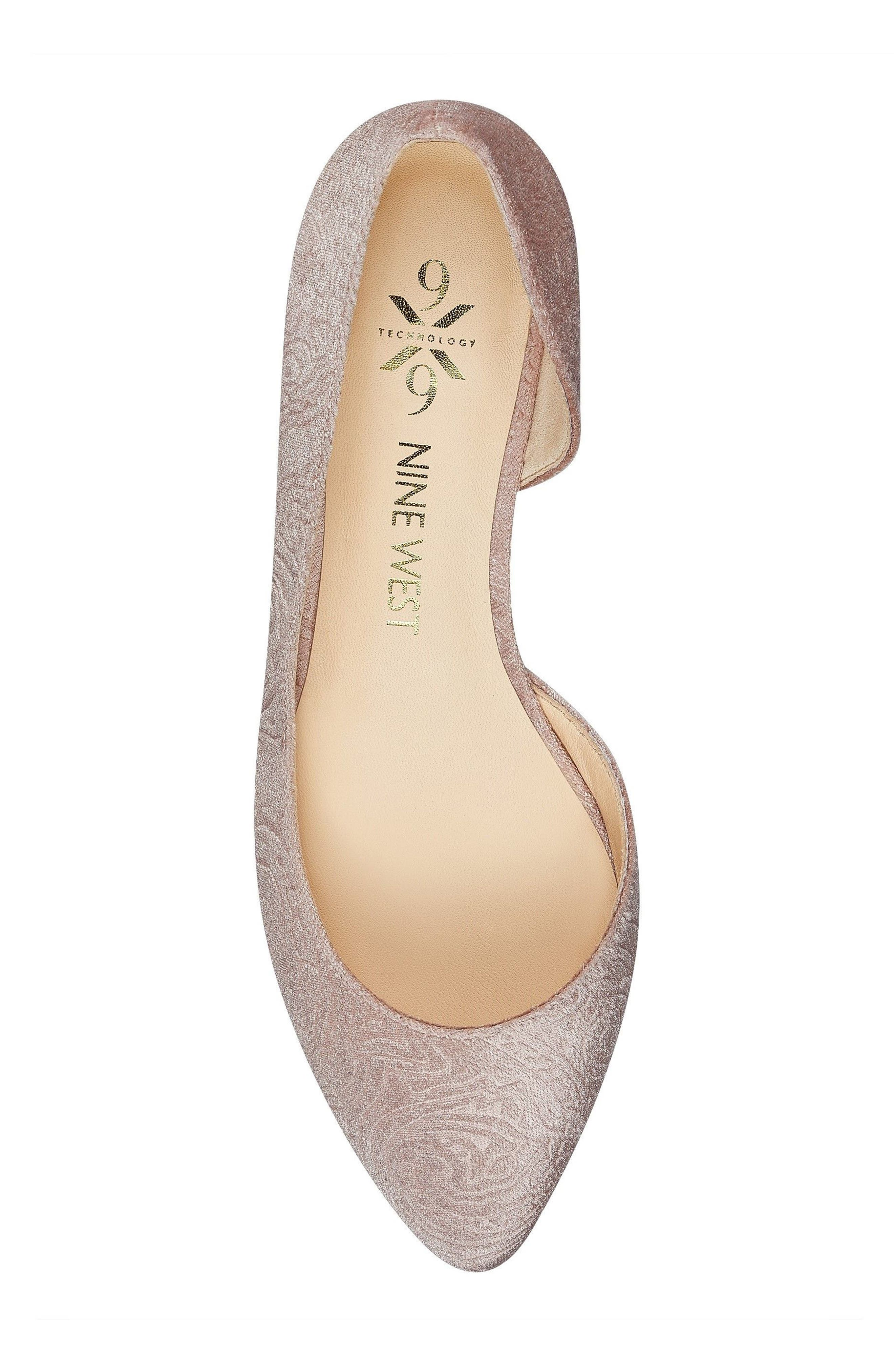 Spruce d'Orsay Flat,                             Alternate thumbnail 5, color,                             Natural Fabric