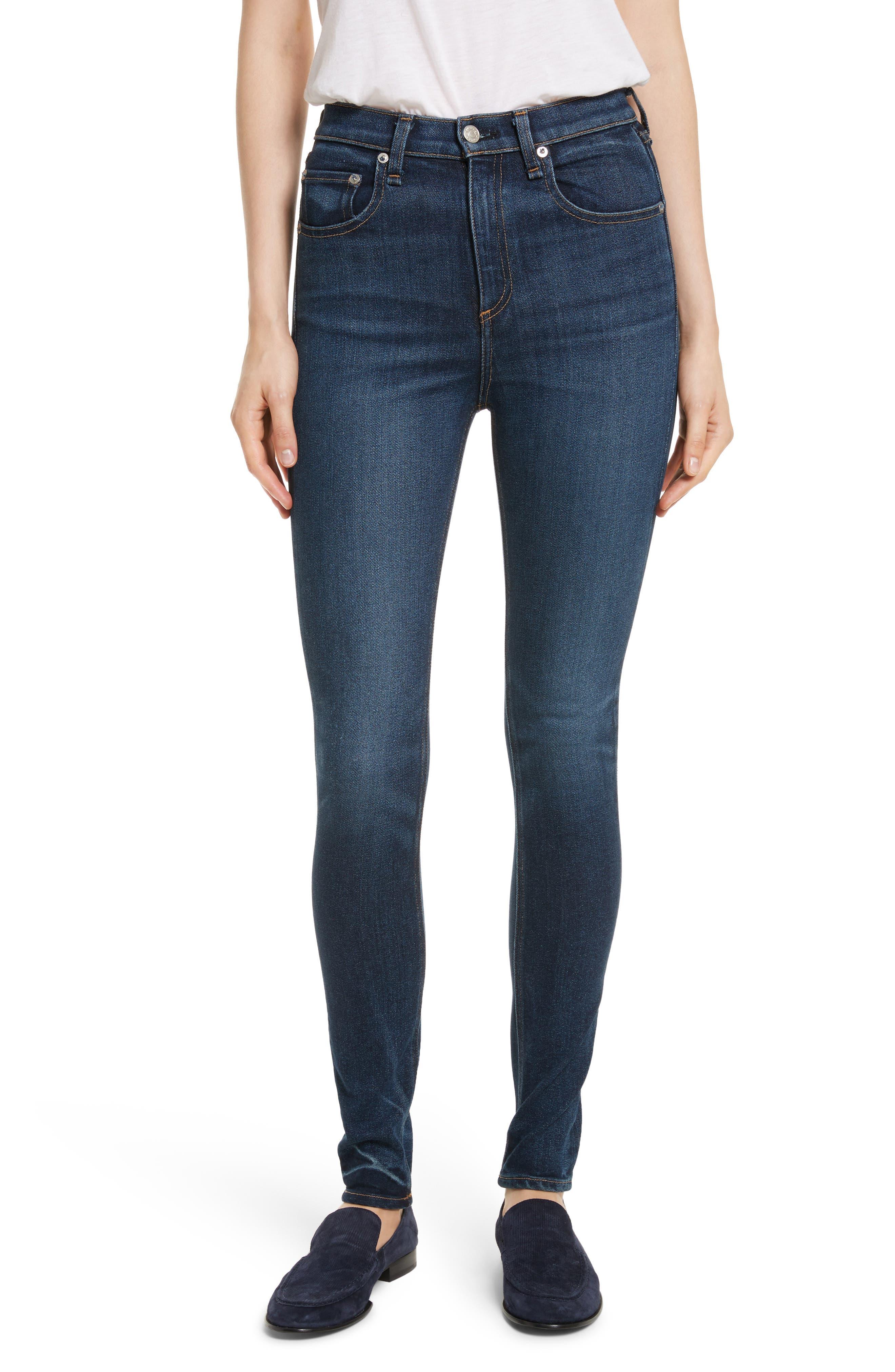 Main Image - rag & bone/JEAN High Waist Skinny Jeans (Shirley)