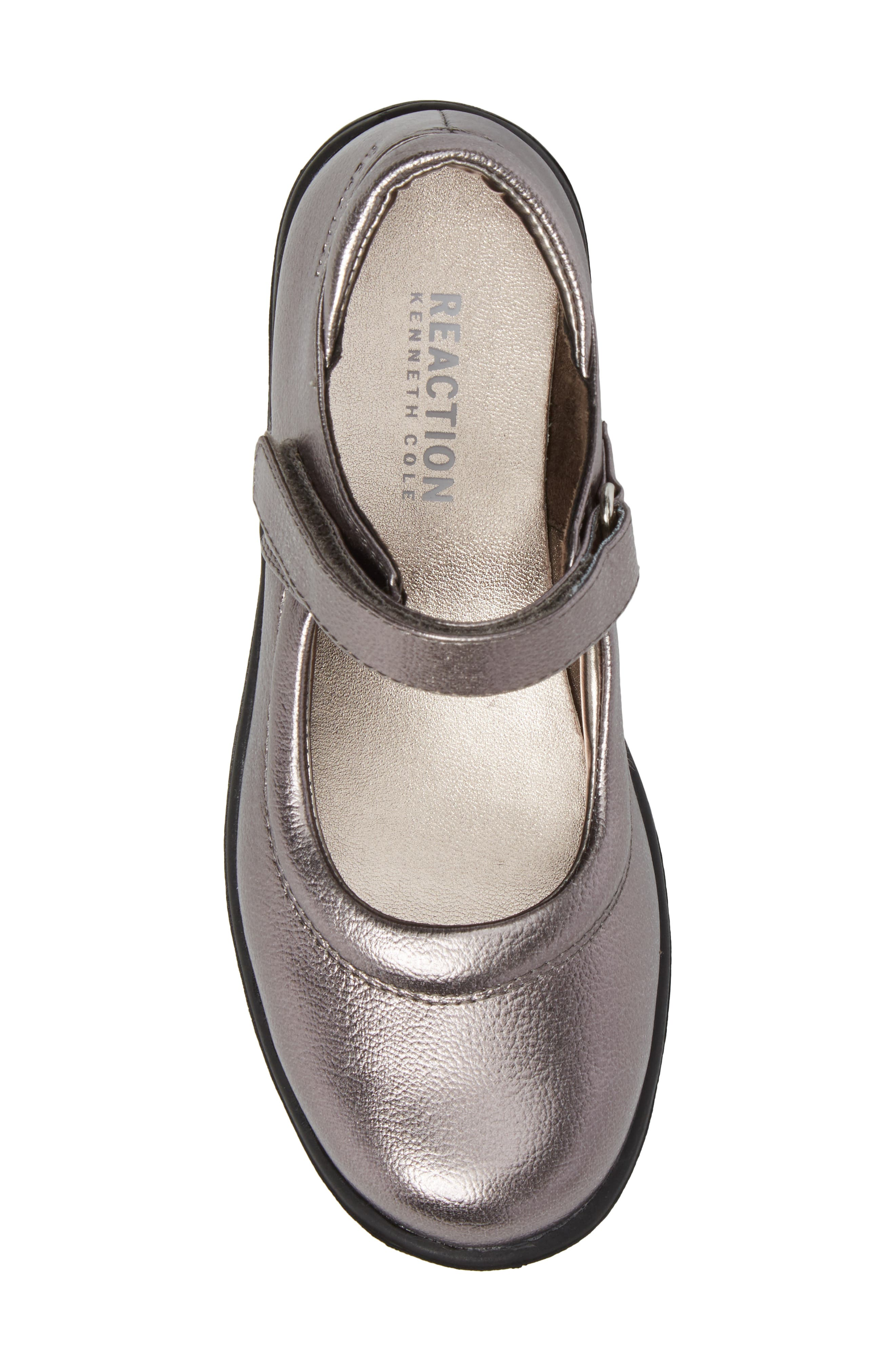 Dolly School Mary Jane,                             Alternate thumbnail 5, color,                             Pewter Faux Leather