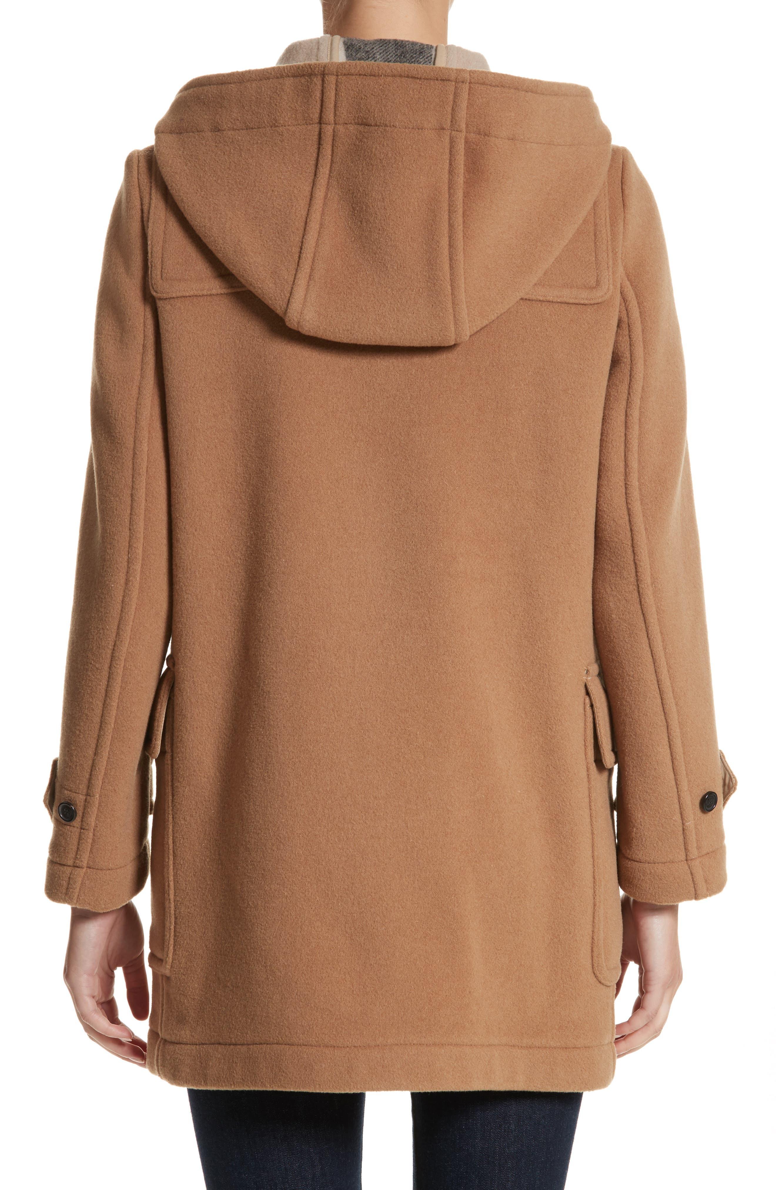 Mersey Wool Blend Duffle Coat,                             Alternate thumbnail 2, color,                             Mid Camel