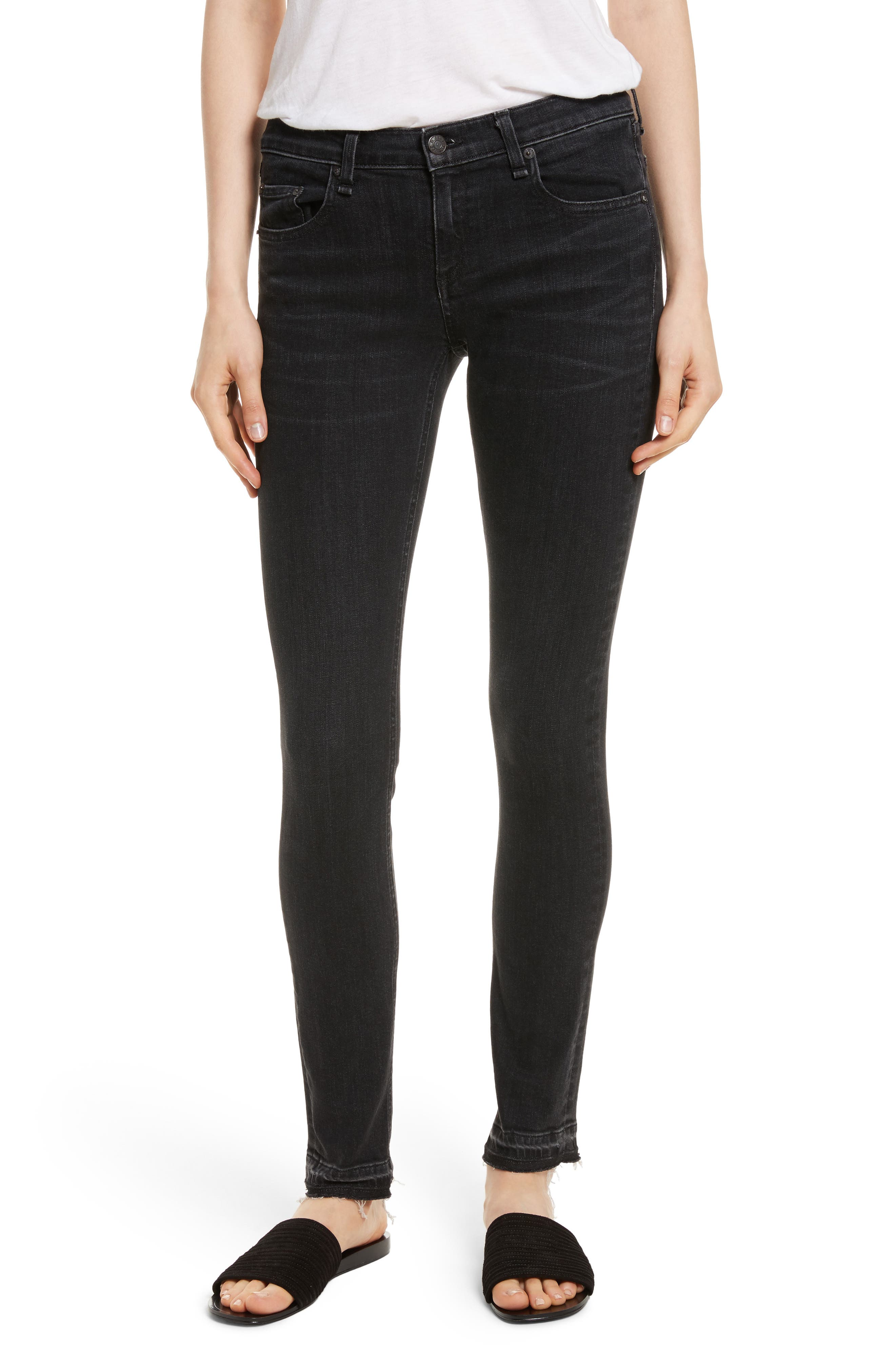 rag & bone/JEAN Dre Skinny Jeans (Concrete)