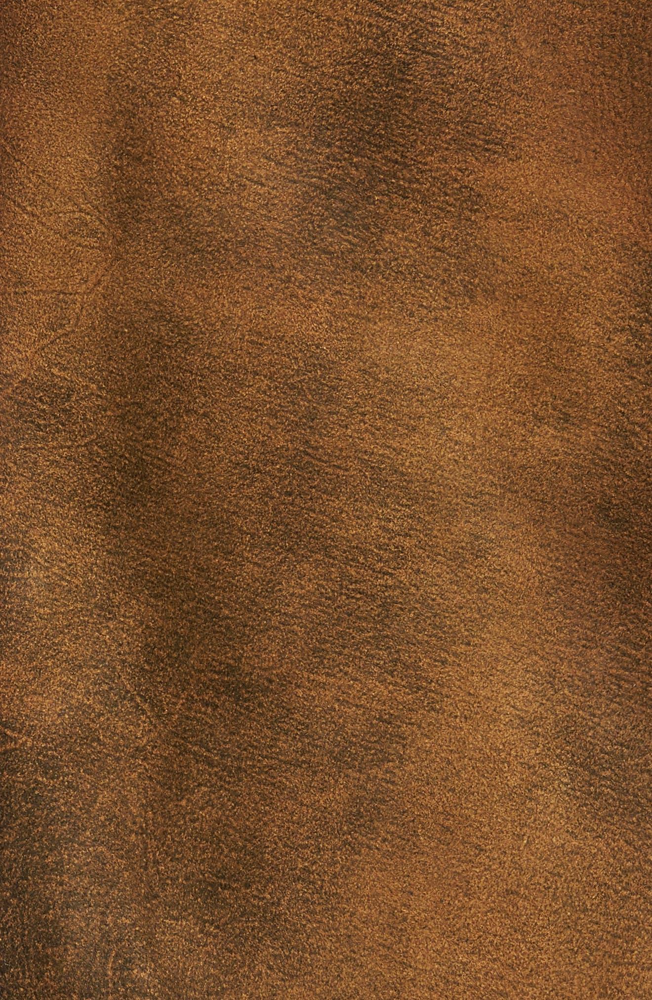 Alternate Image 5  - FLYNT Distressed Leather Trucker Jacket