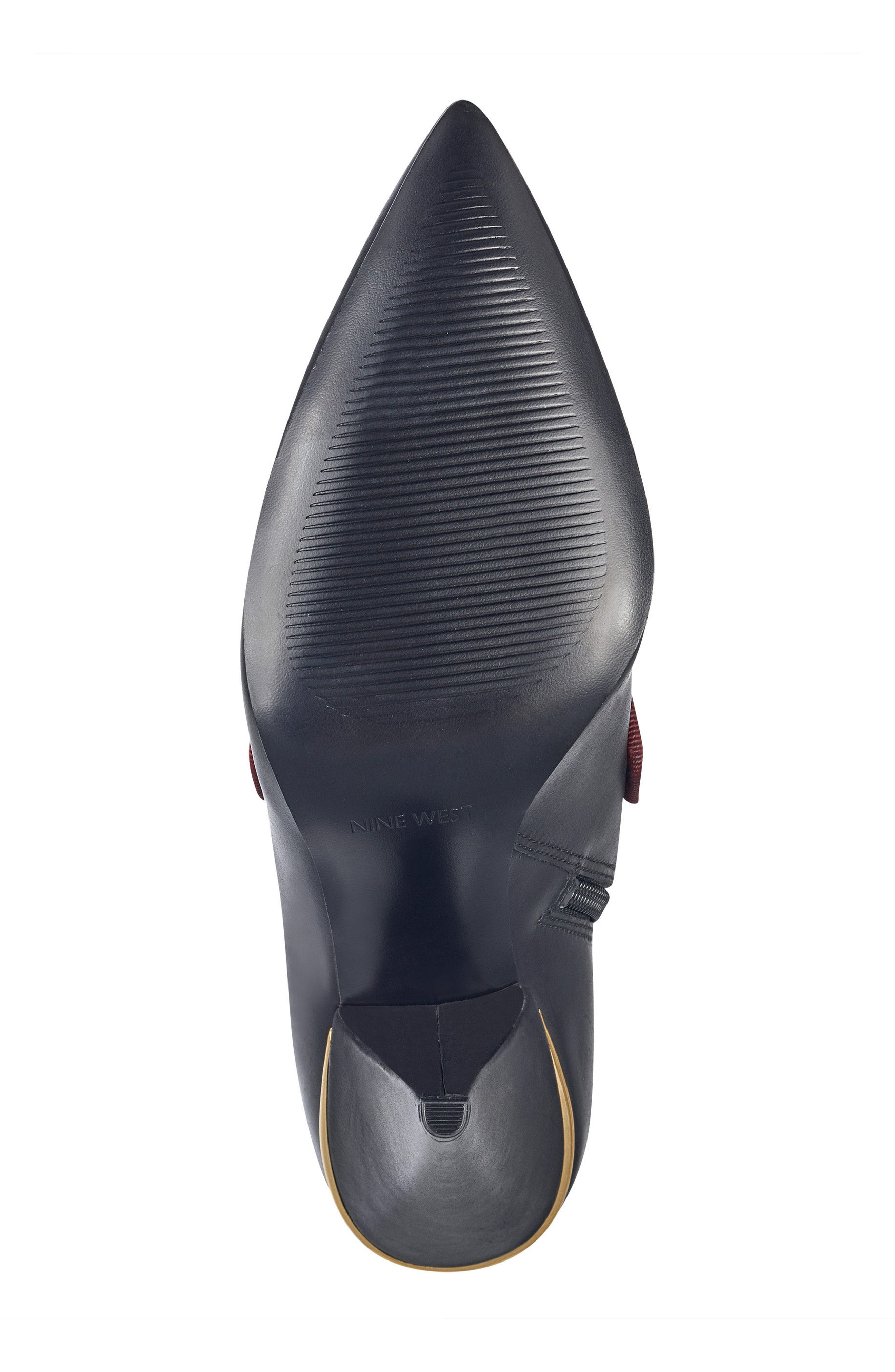 Westham Pointy Toe Bootie,                             Alternate thumbnail 6, color,                             Black/ Wine Leather