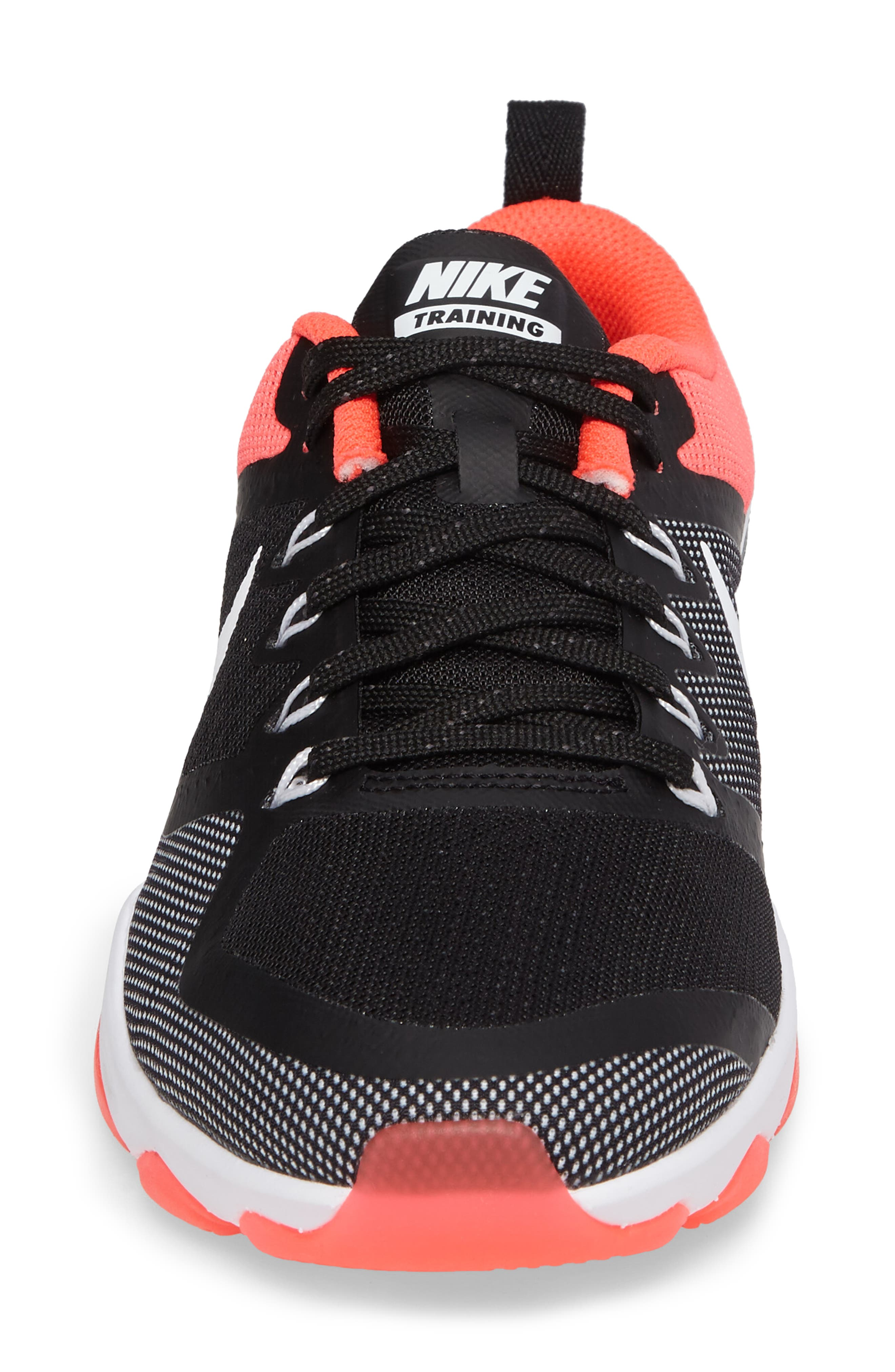 Air Zoom Fitness Training Shoe,                             Alternate thumbnail 4, color,                             Black/ White/ Solar Red