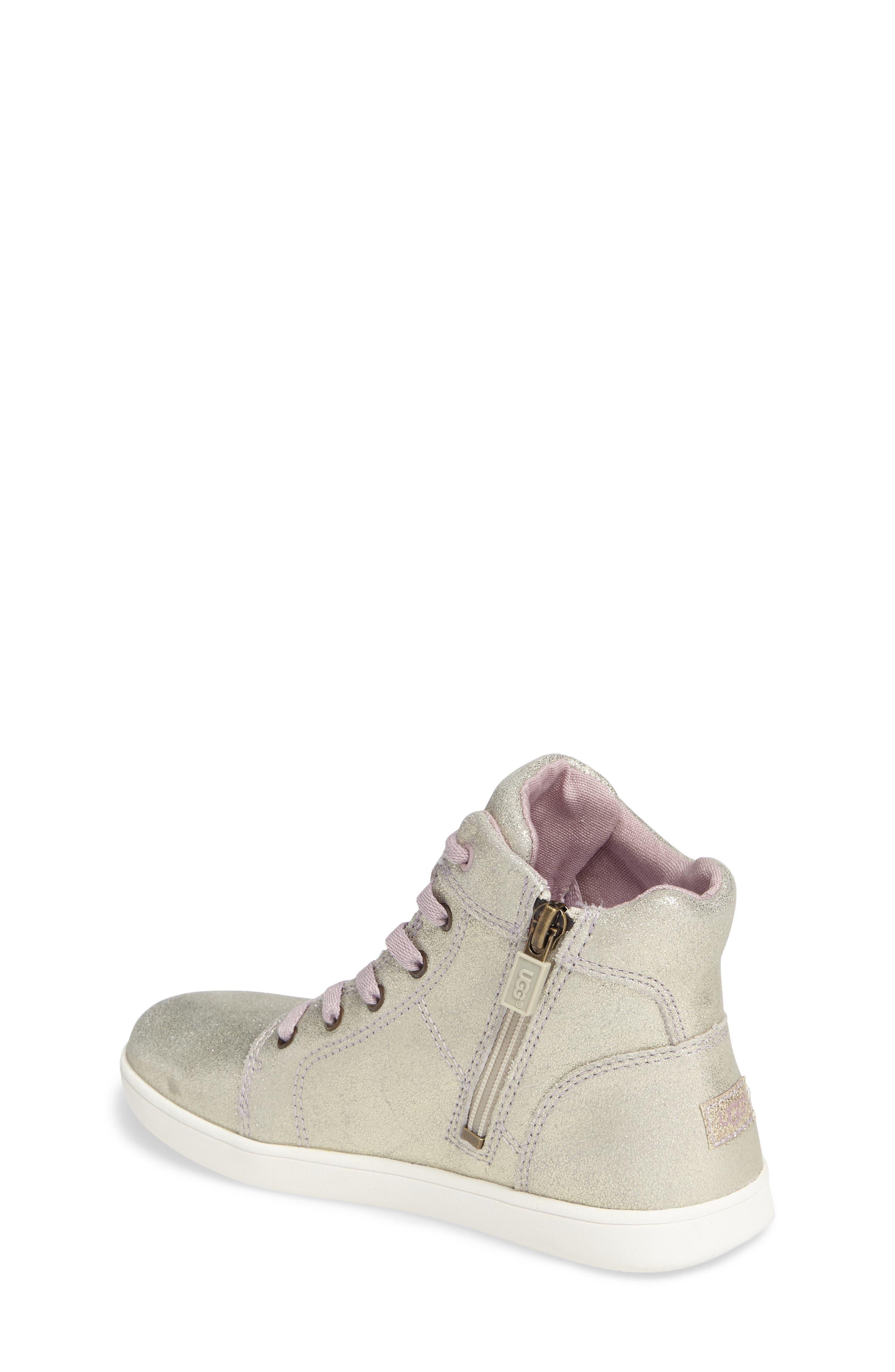 Schyler Metallic High Top Sneaker,                             Alternate thumbnail 2, color,                             Gold
