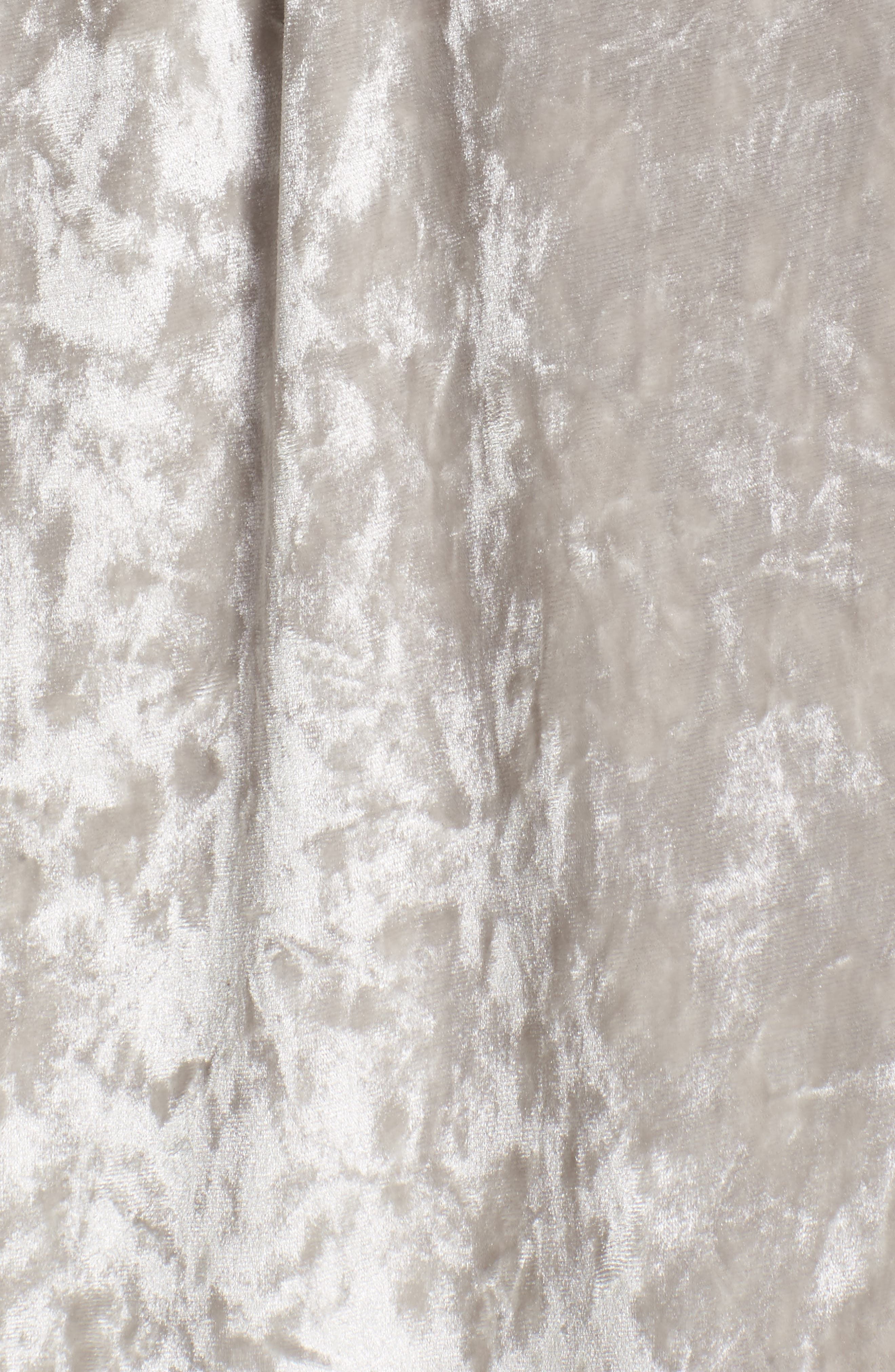 Crushed Velvet Short Robe,                             Alternate thumbnail 6, color,                             Grey Vapor