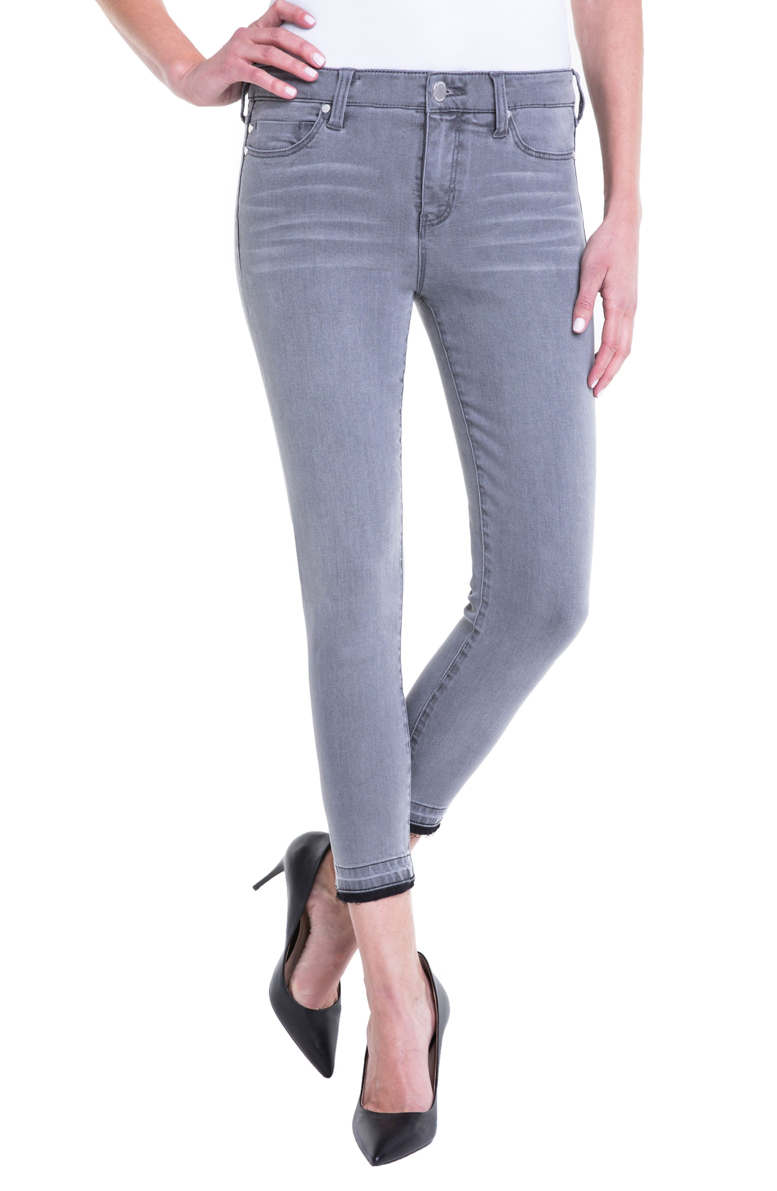 Liverpool Jeans Company Avery Release Hem Crop Jeans (Aluminum)