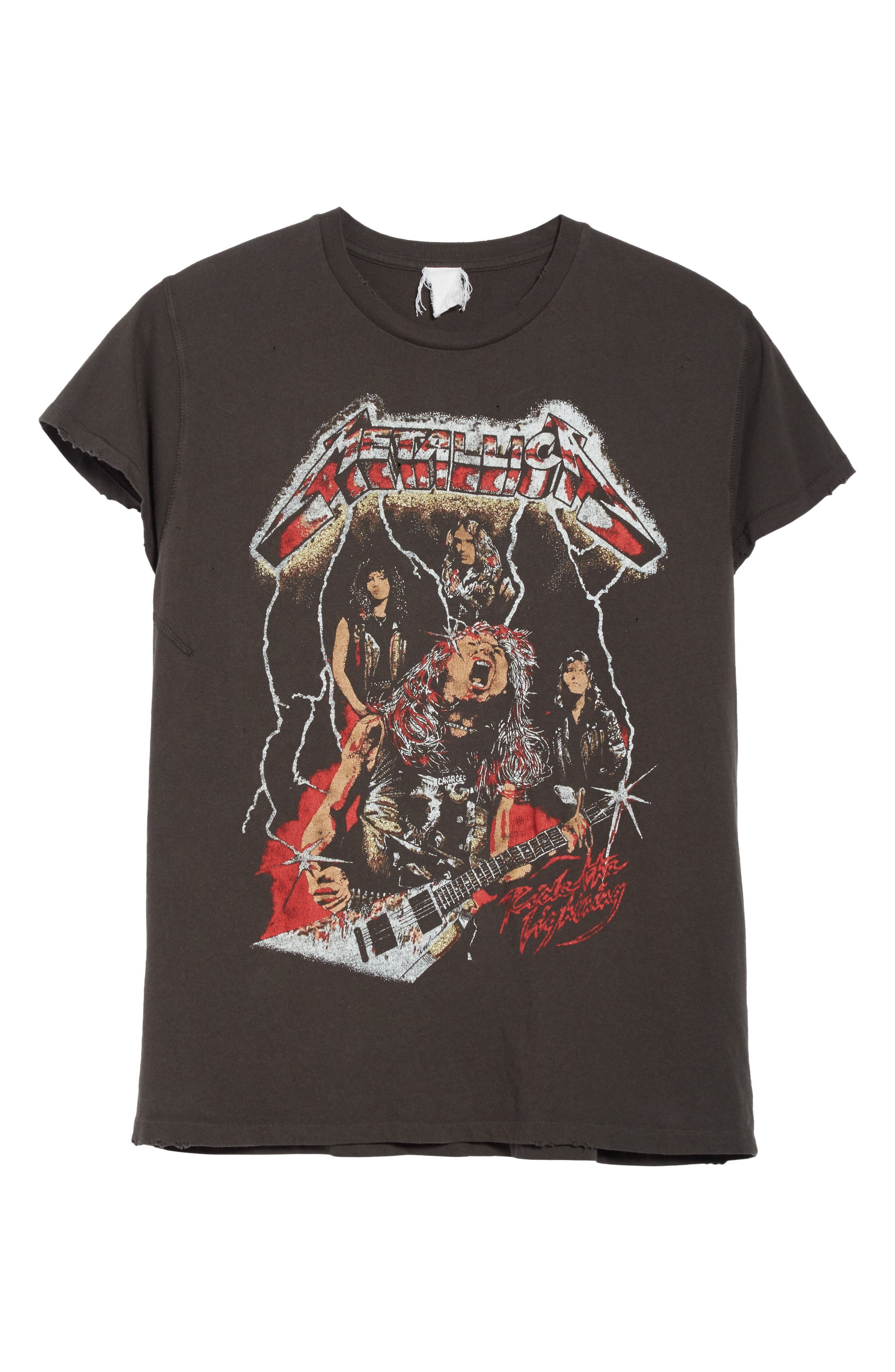 Alternate Image 6  - Madeworn Metallica Glitter Graphic T-Shirt