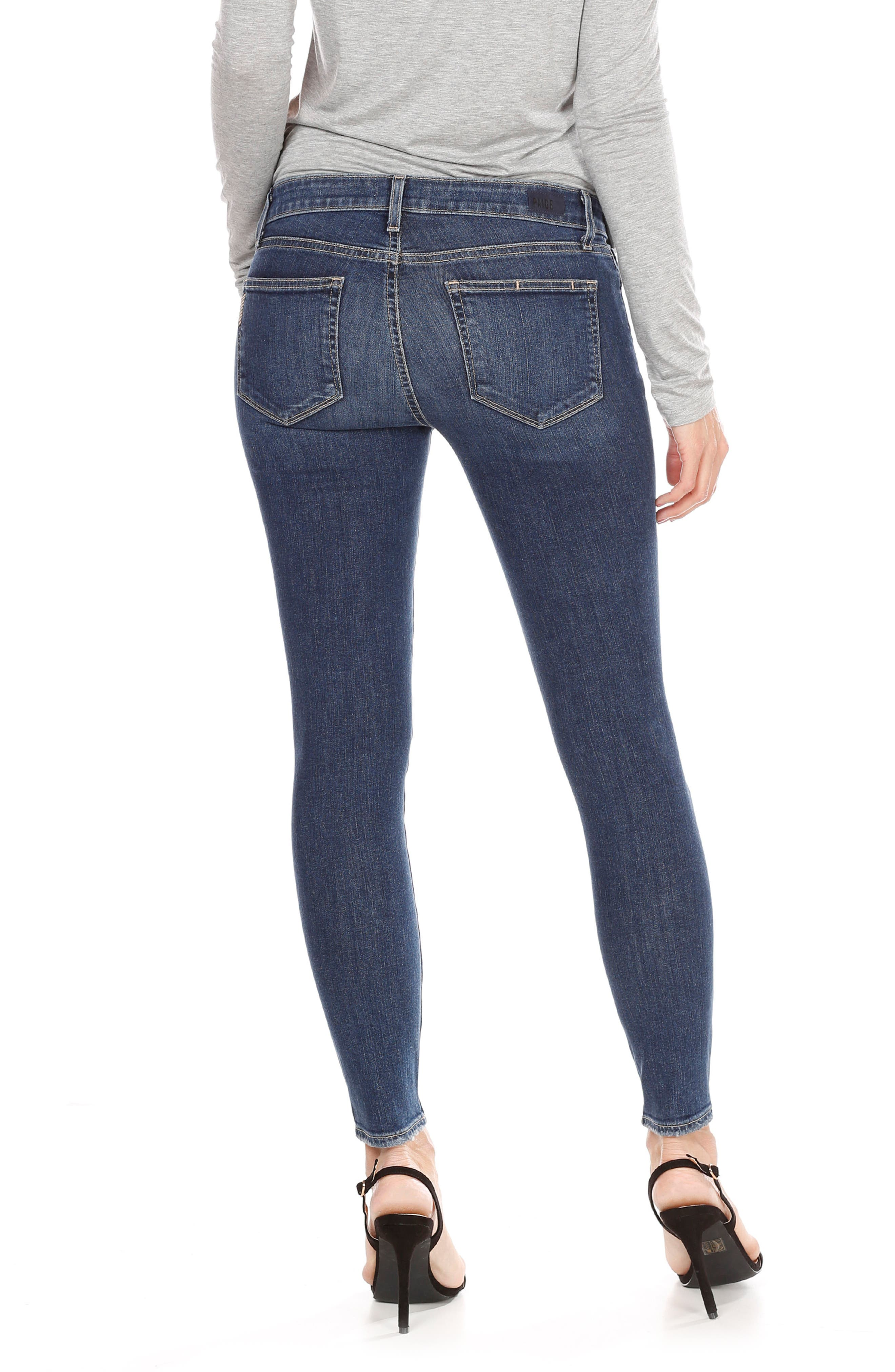 Verdugo Ripped Ankle Skinny Jeans,                             Alternate thumbnail 2, color,                             Addax Destructed