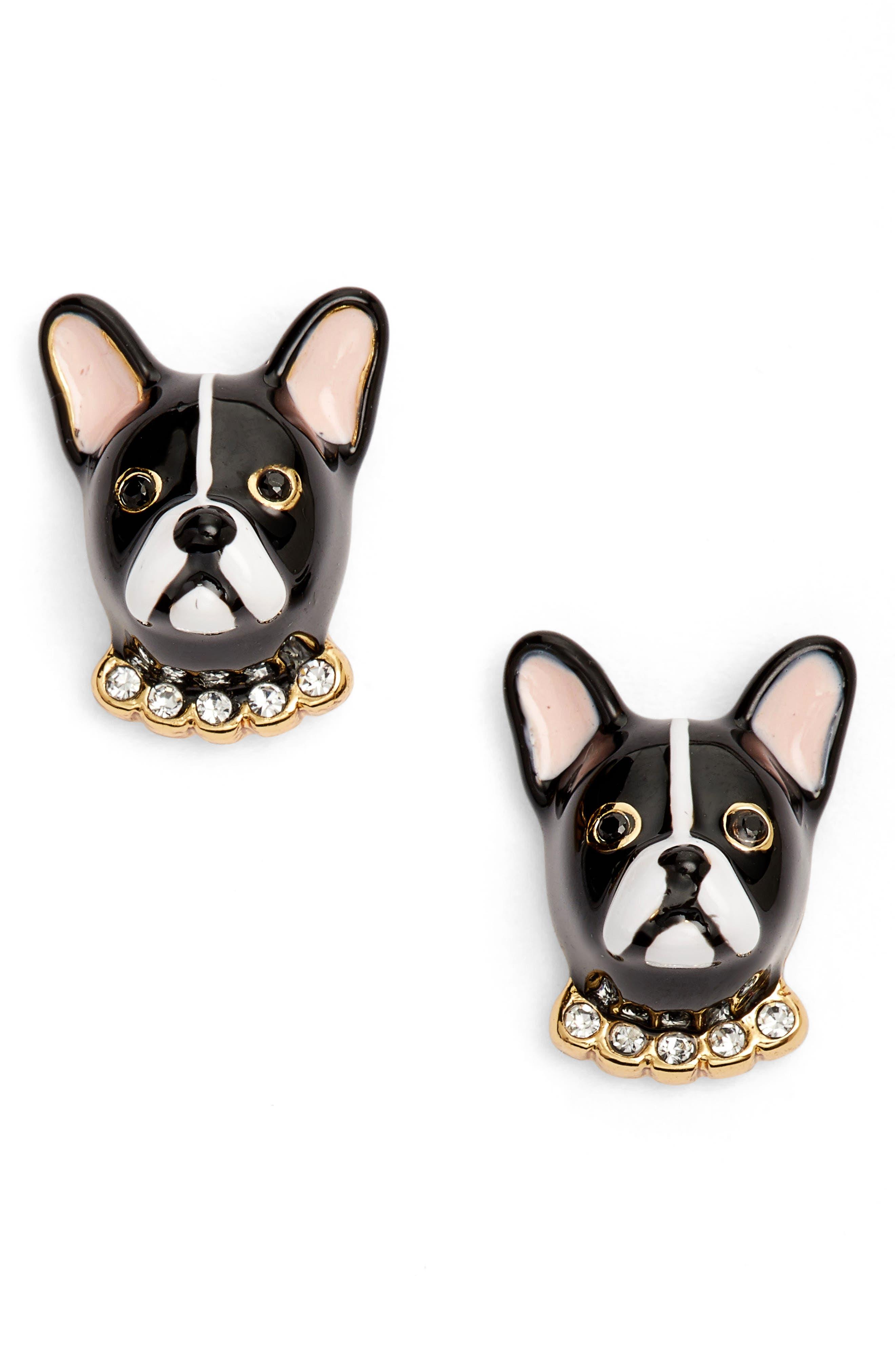 KATE SPADE NEW YORK ma cherie antoine dog stud earrings