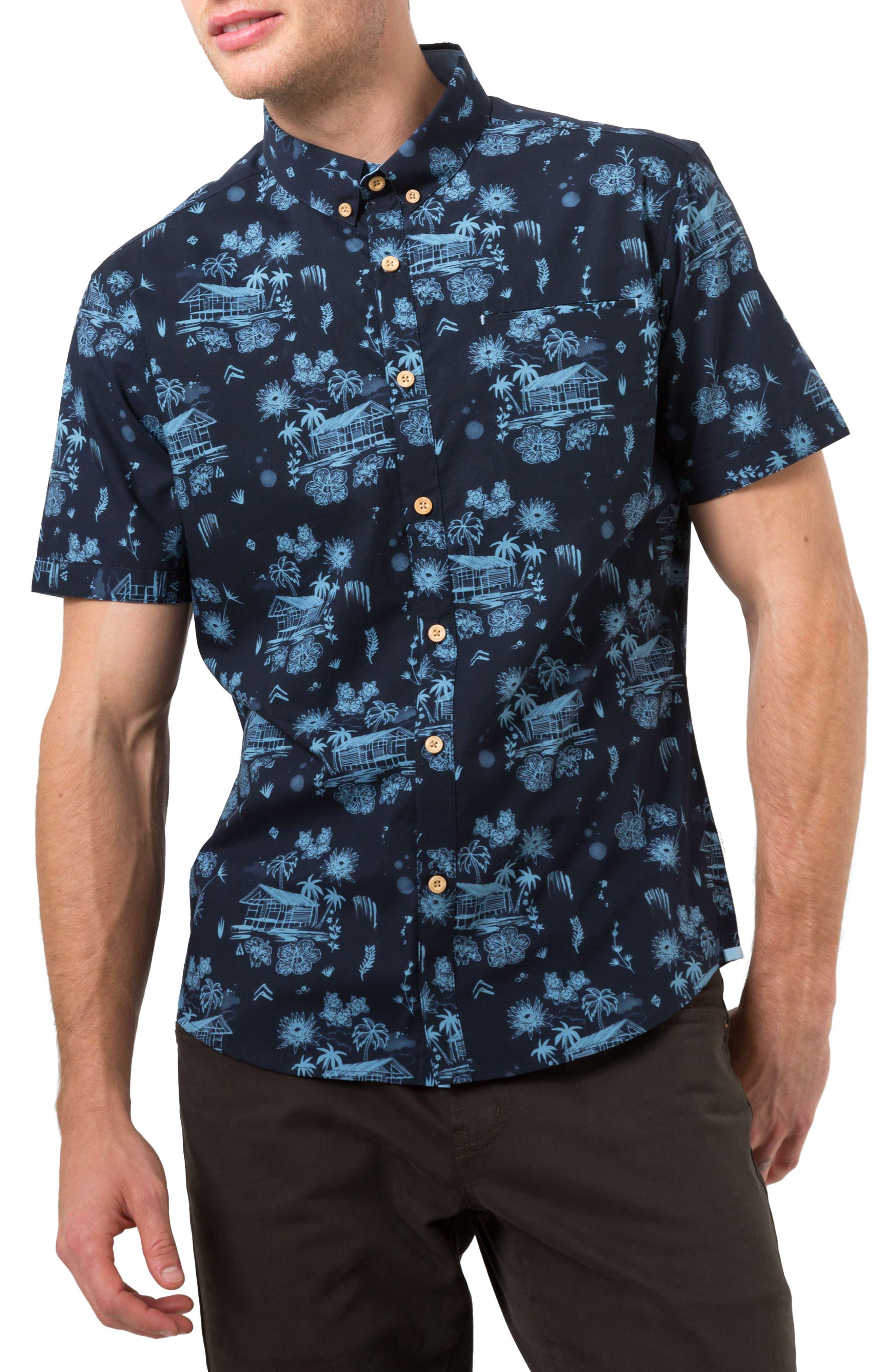7 Diamonds La Villa Print Woven Shirt
