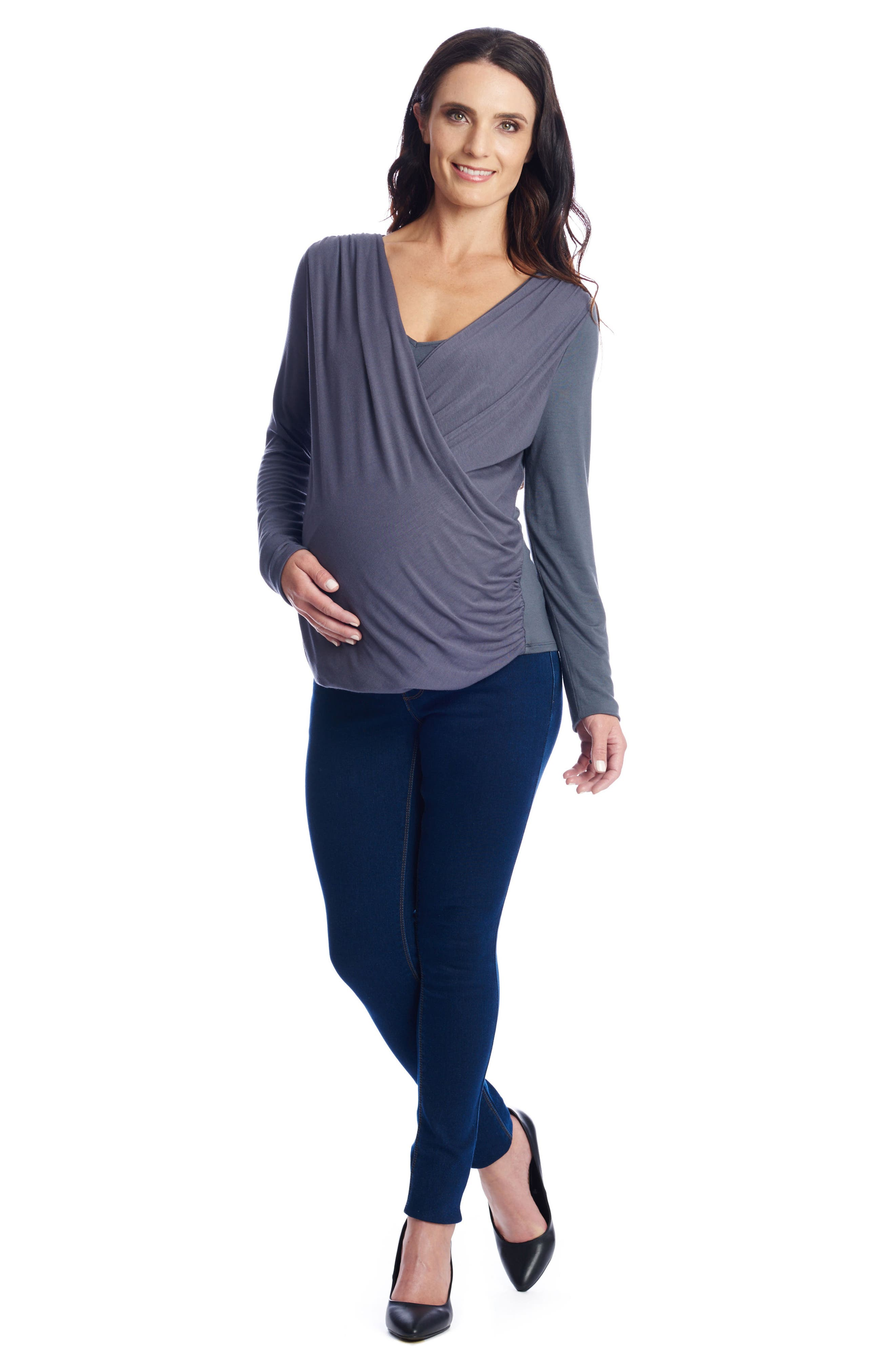 Alternate Image 2  - Everly Grey Brooklyn Maternity Top