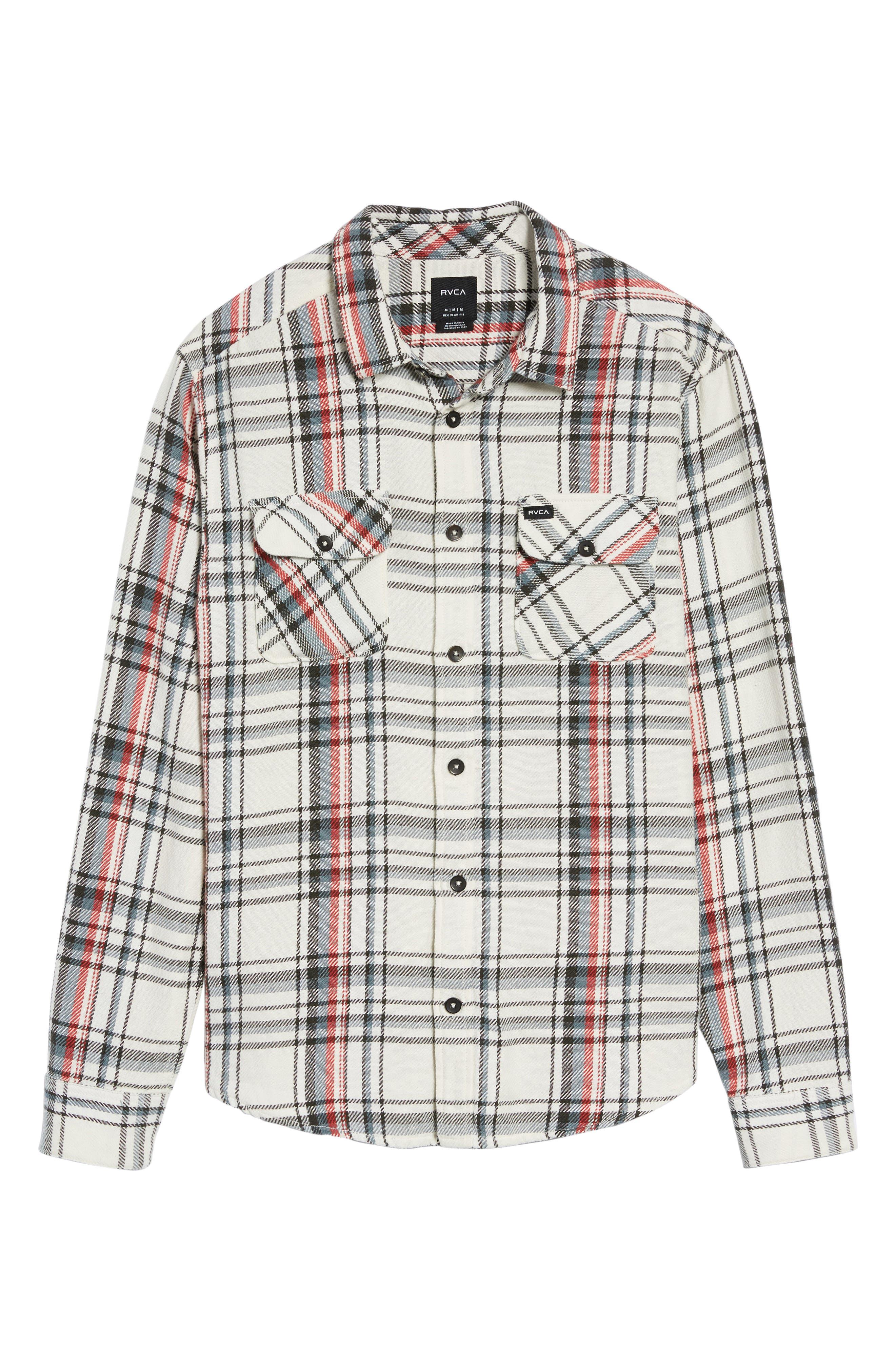 Alternate Image 6  - RVCA Camino Plaid Flannel Shirt