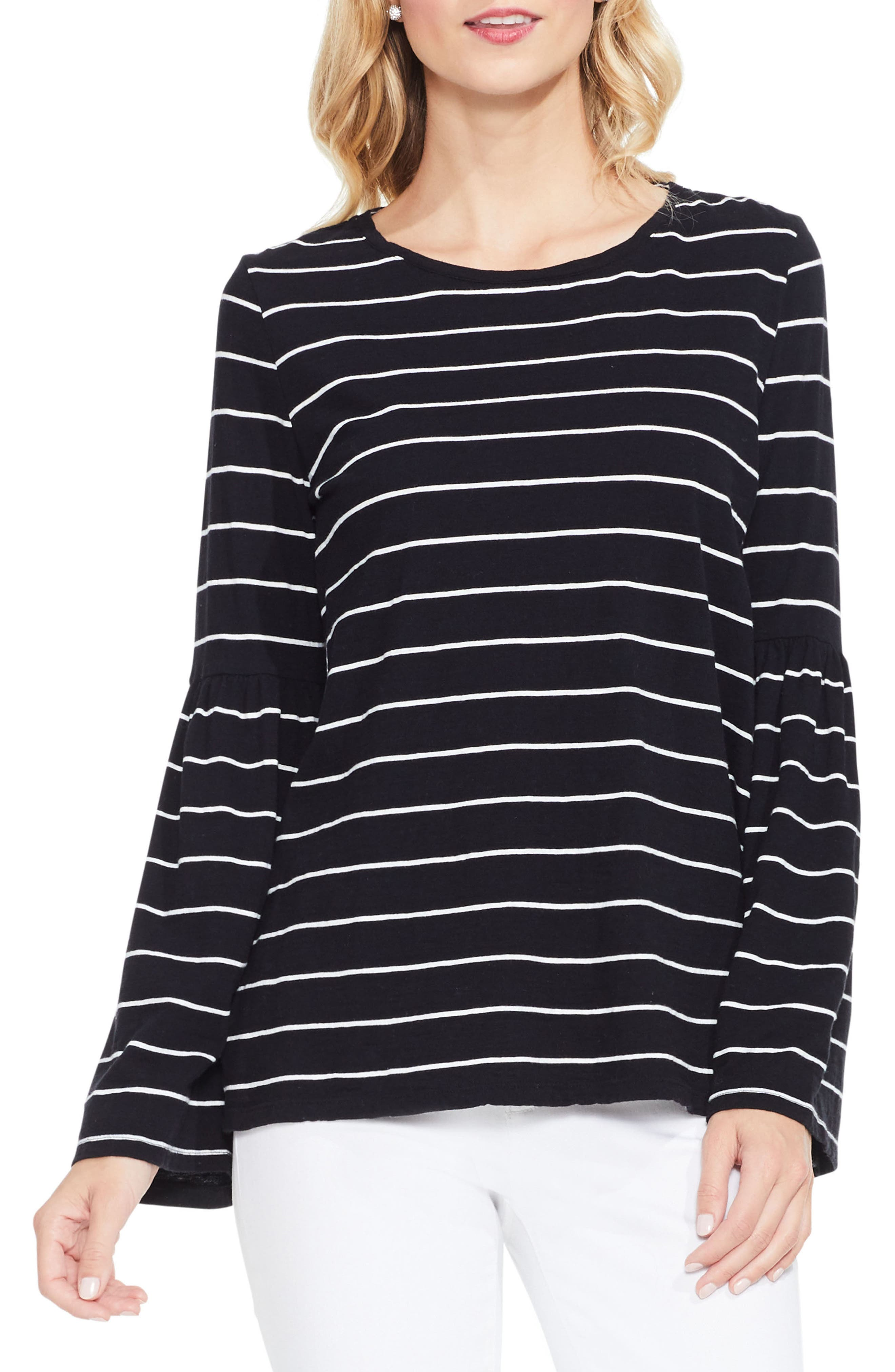 Two by Vince Camuto Bell Sleeve Stripe Top