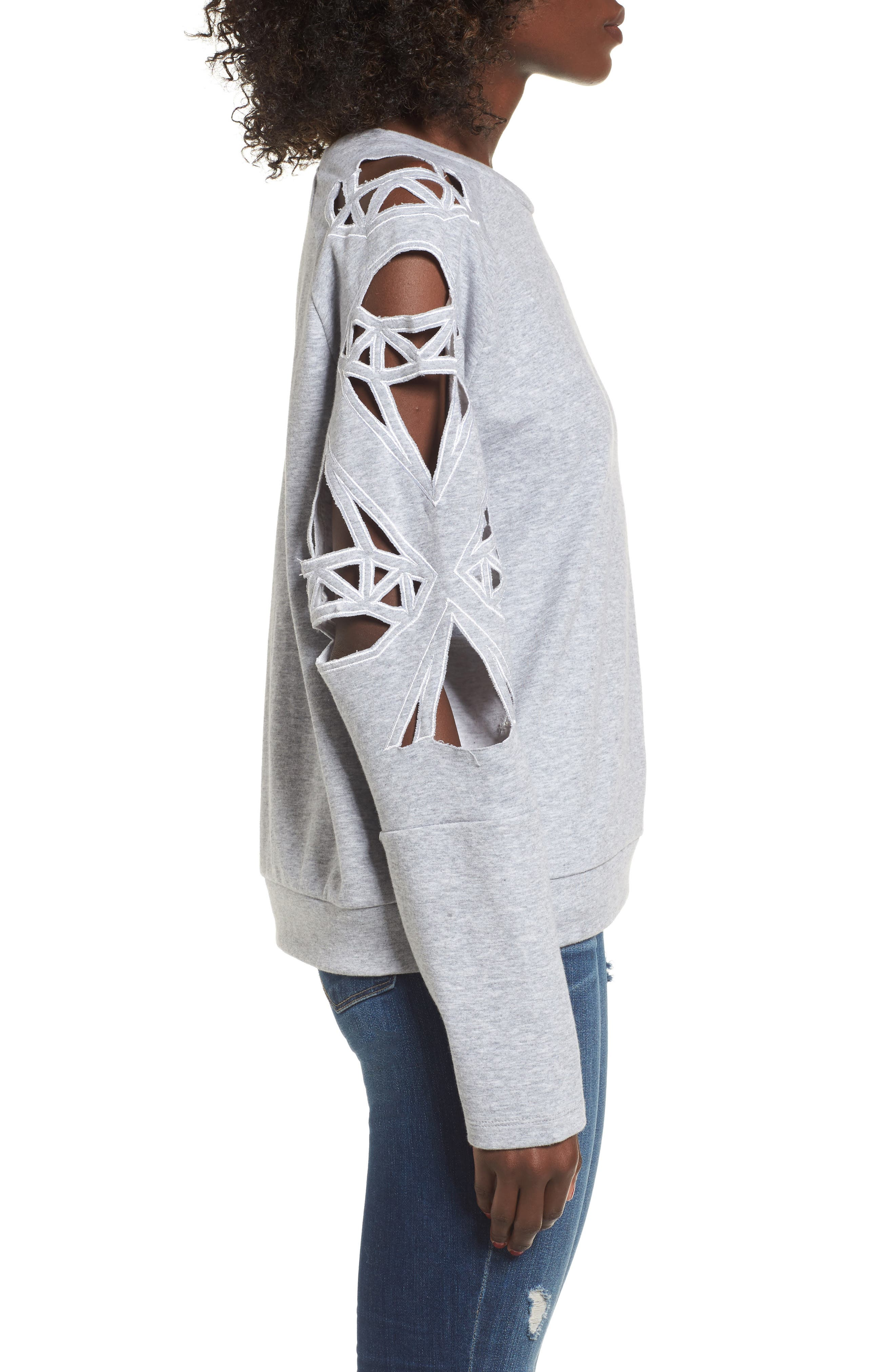 Alternate Image 3  - Supertrash Taffic Cutout Sweatshirt