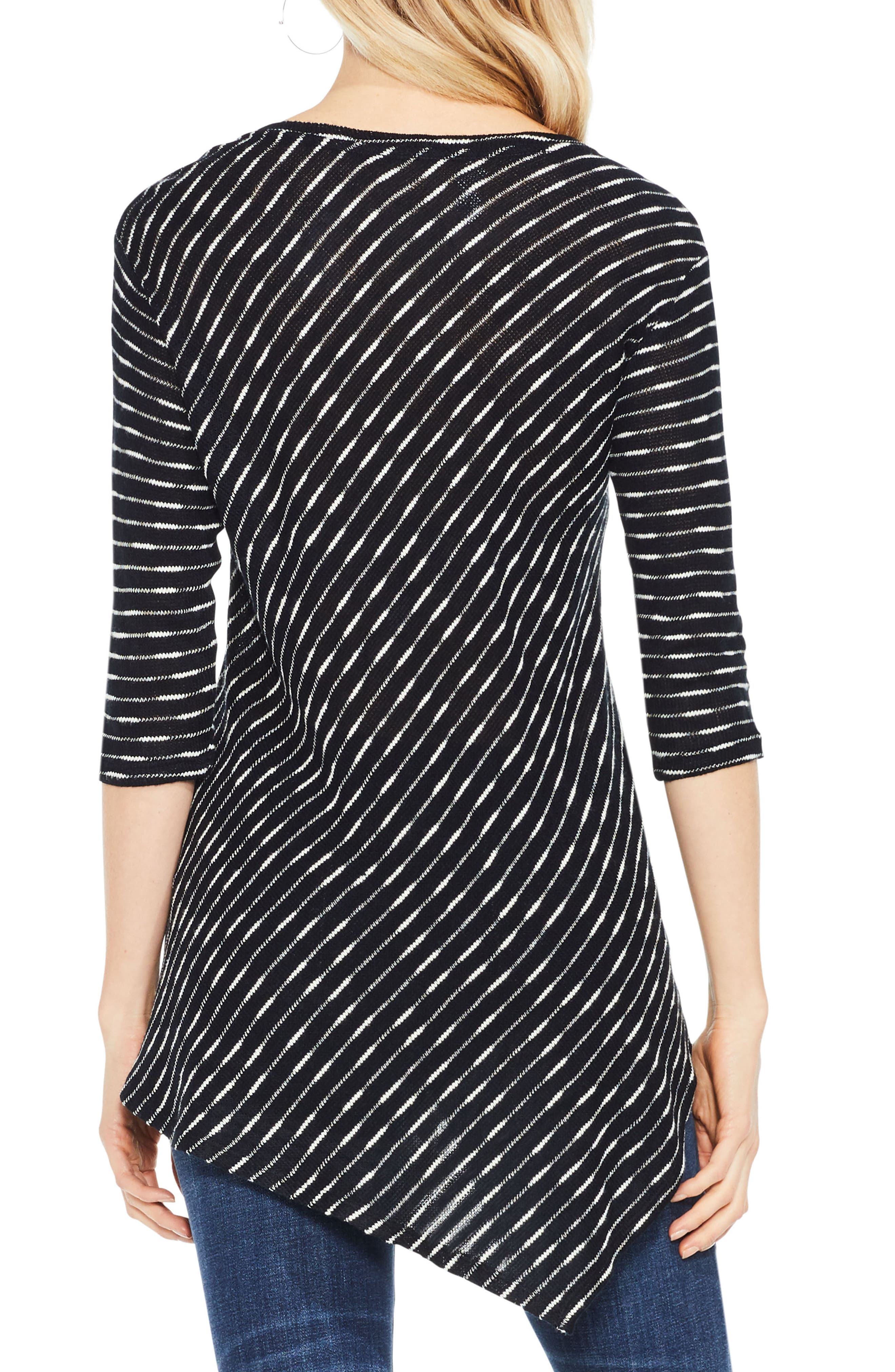 Alternate Image 2  - Two by Vince Camuto Asymmetrical Stripe Top