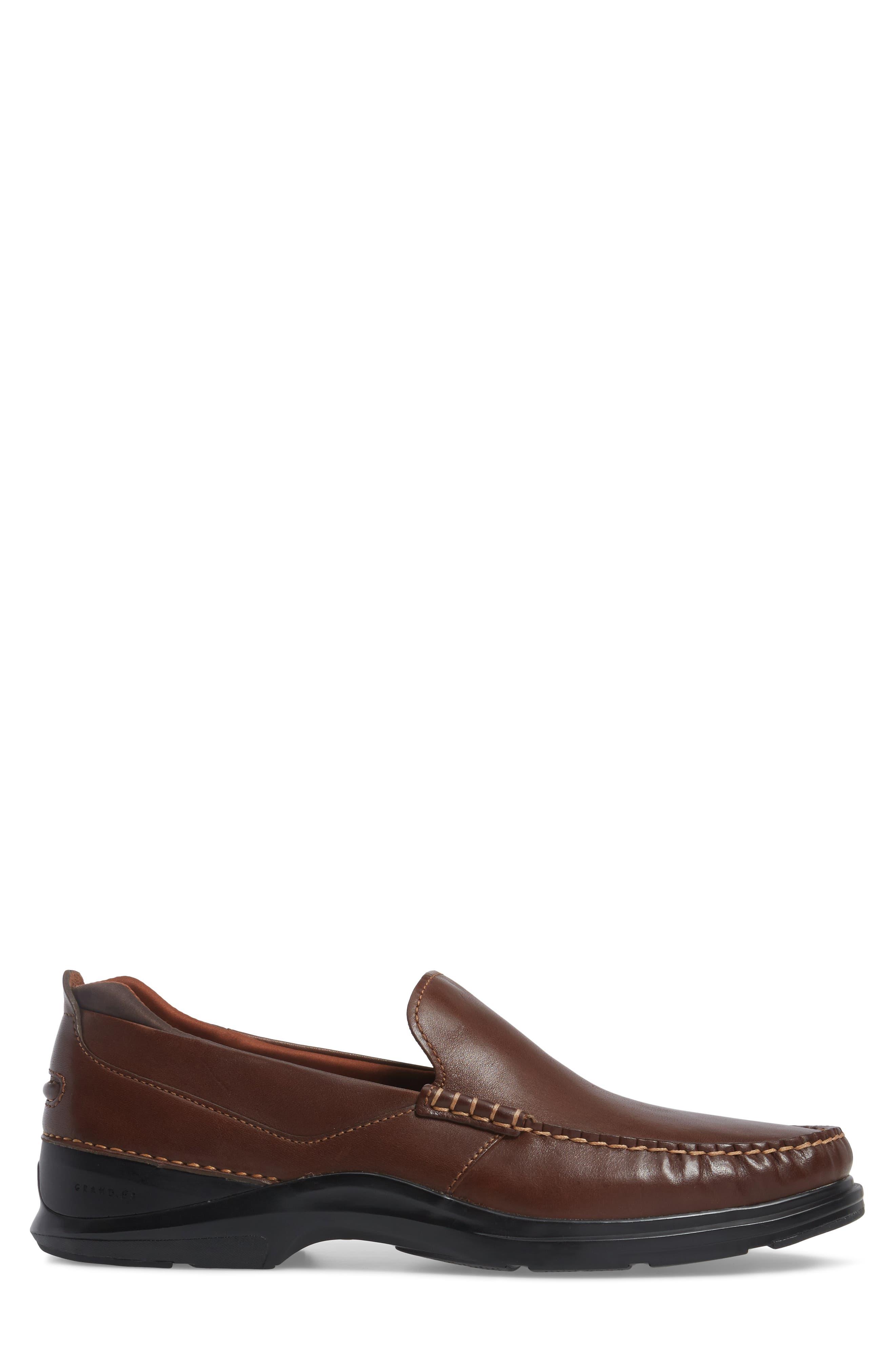 Bancroft Loafer,                             Alternate thumbnail 3, color,                             Harvest Brown Leather