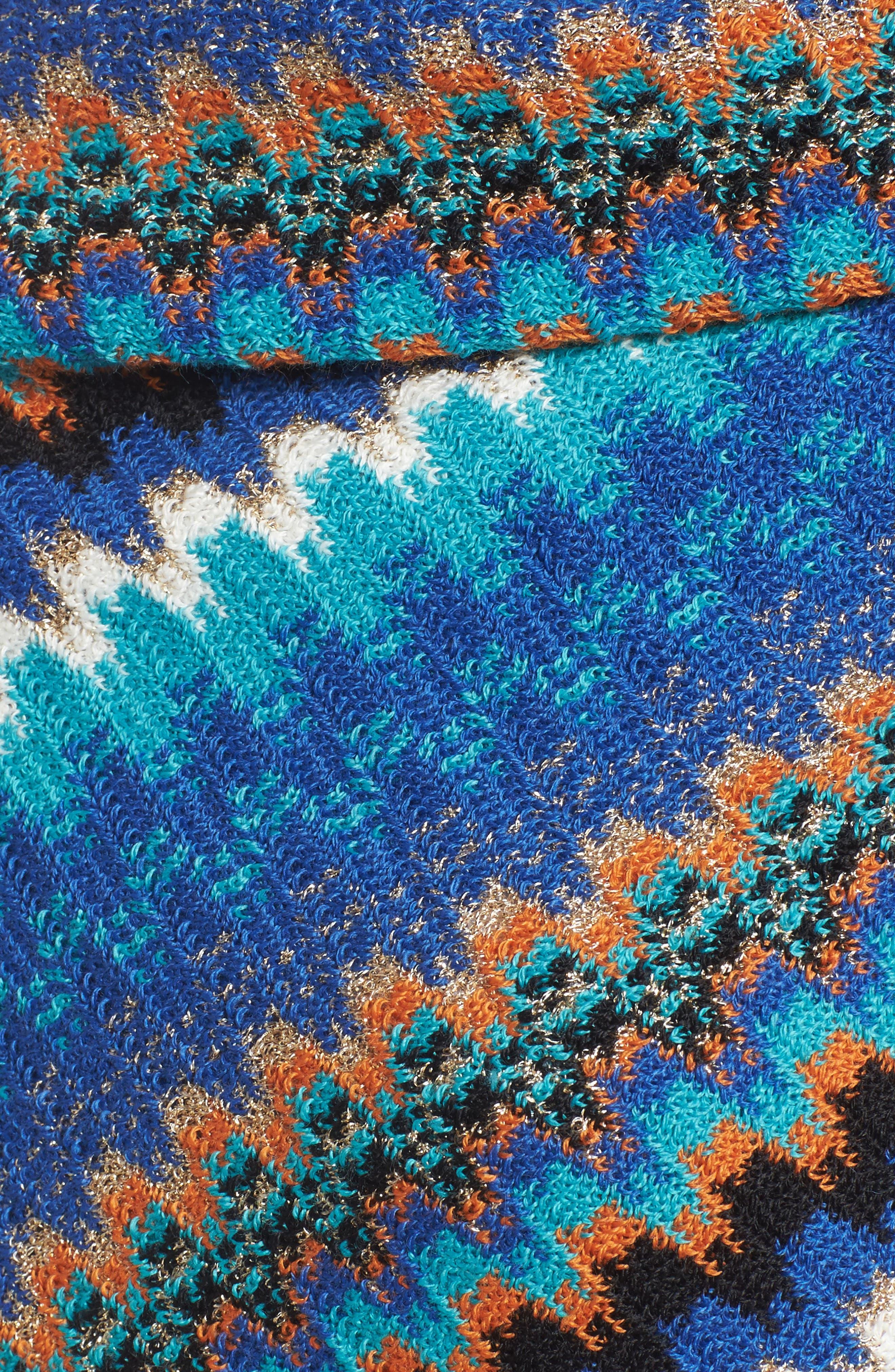 Fringe Zigzag Cape,                             Alternate thumbnail 6, color,                             Blue