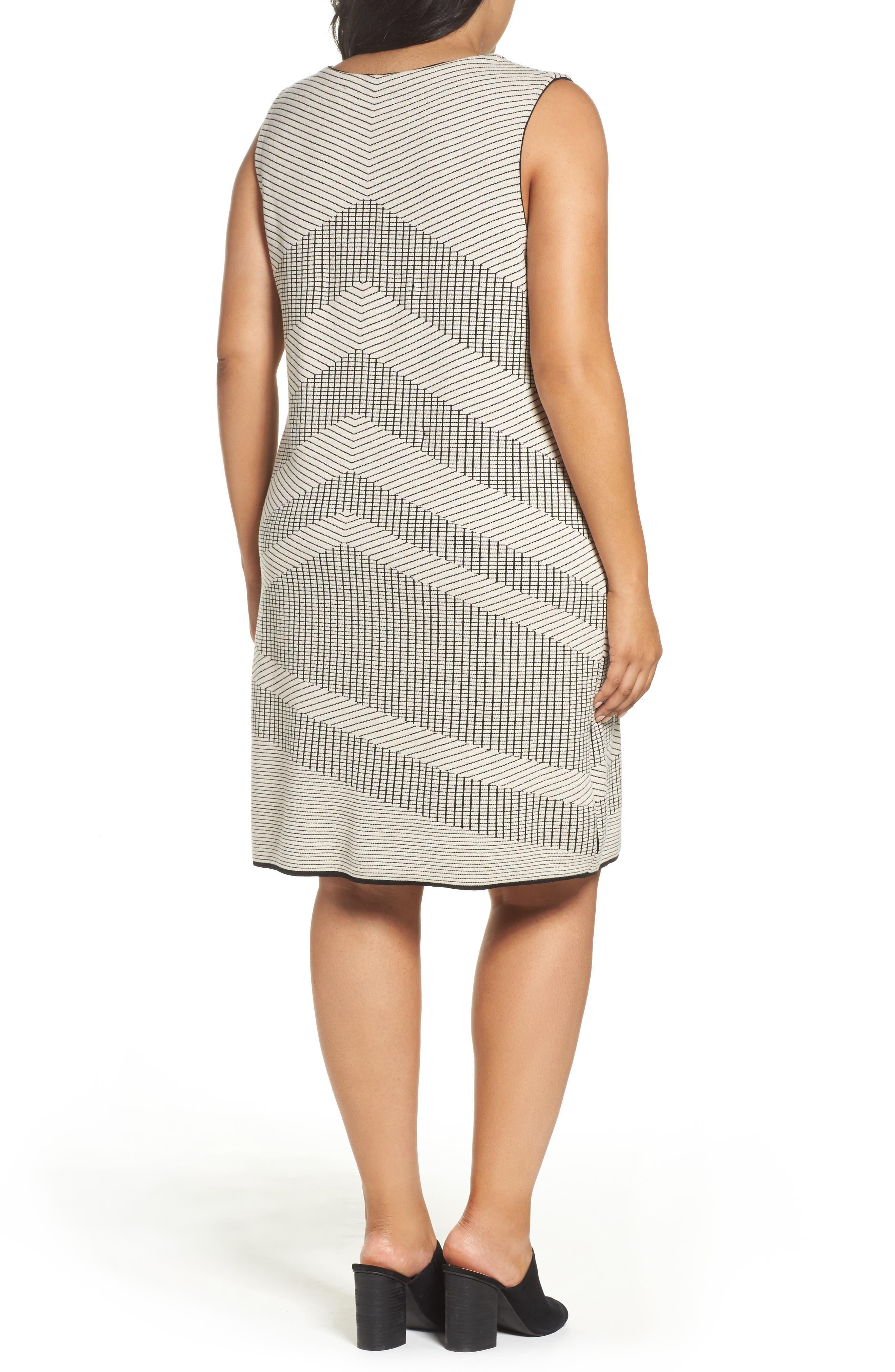 Mantra Chevron Stripe Knit Sheath Dress,                             Alternate thumbnail 2, color,                             Creme Brulee