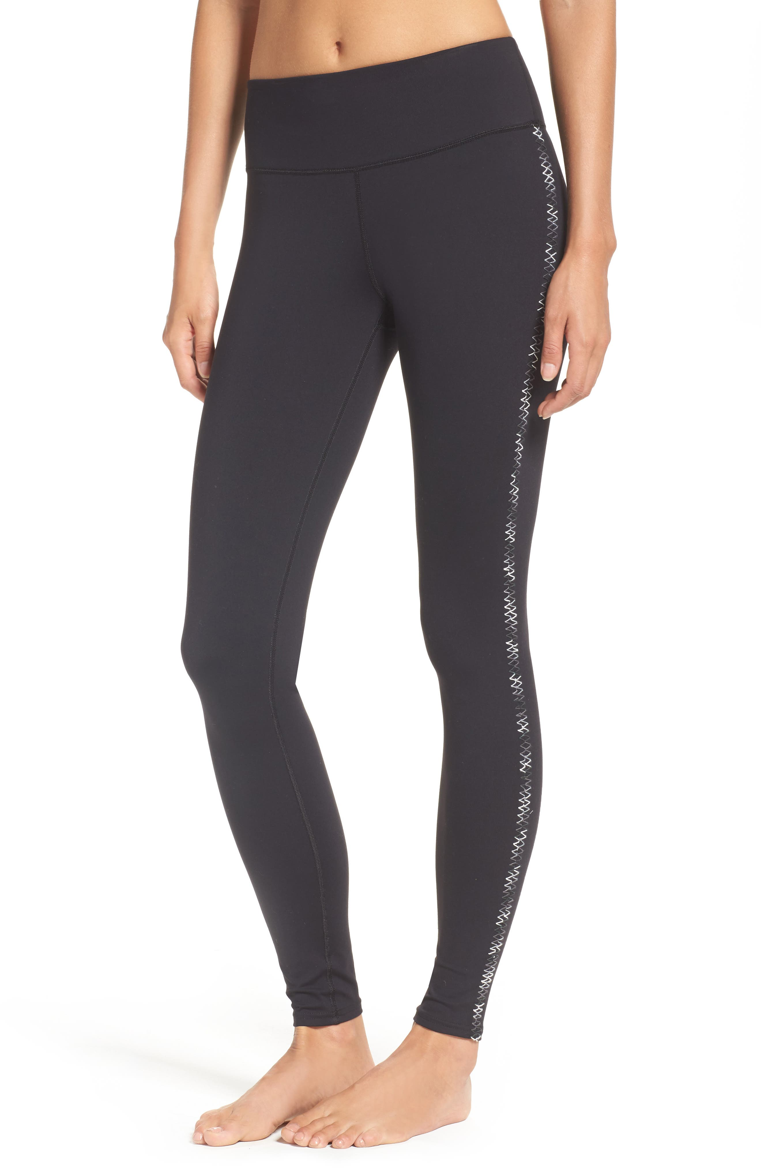 Stitch in Time Leggings,                             Main thumbnail 1, color,                             Black