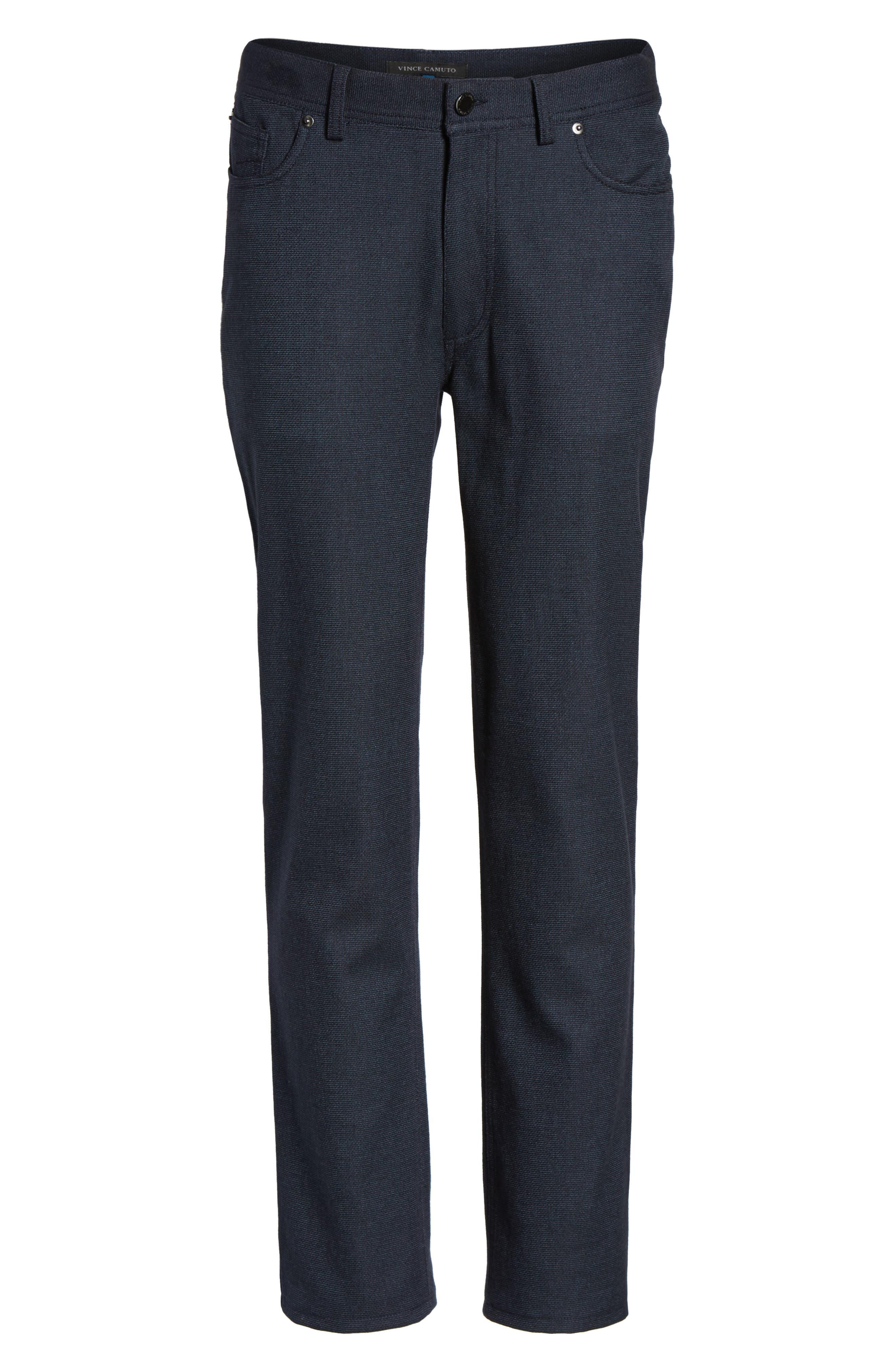 Vince Slim Fit Stretch Five-Pocket Pants,                             Alternate thumbnail 5, color,                             Navy Digital Neat