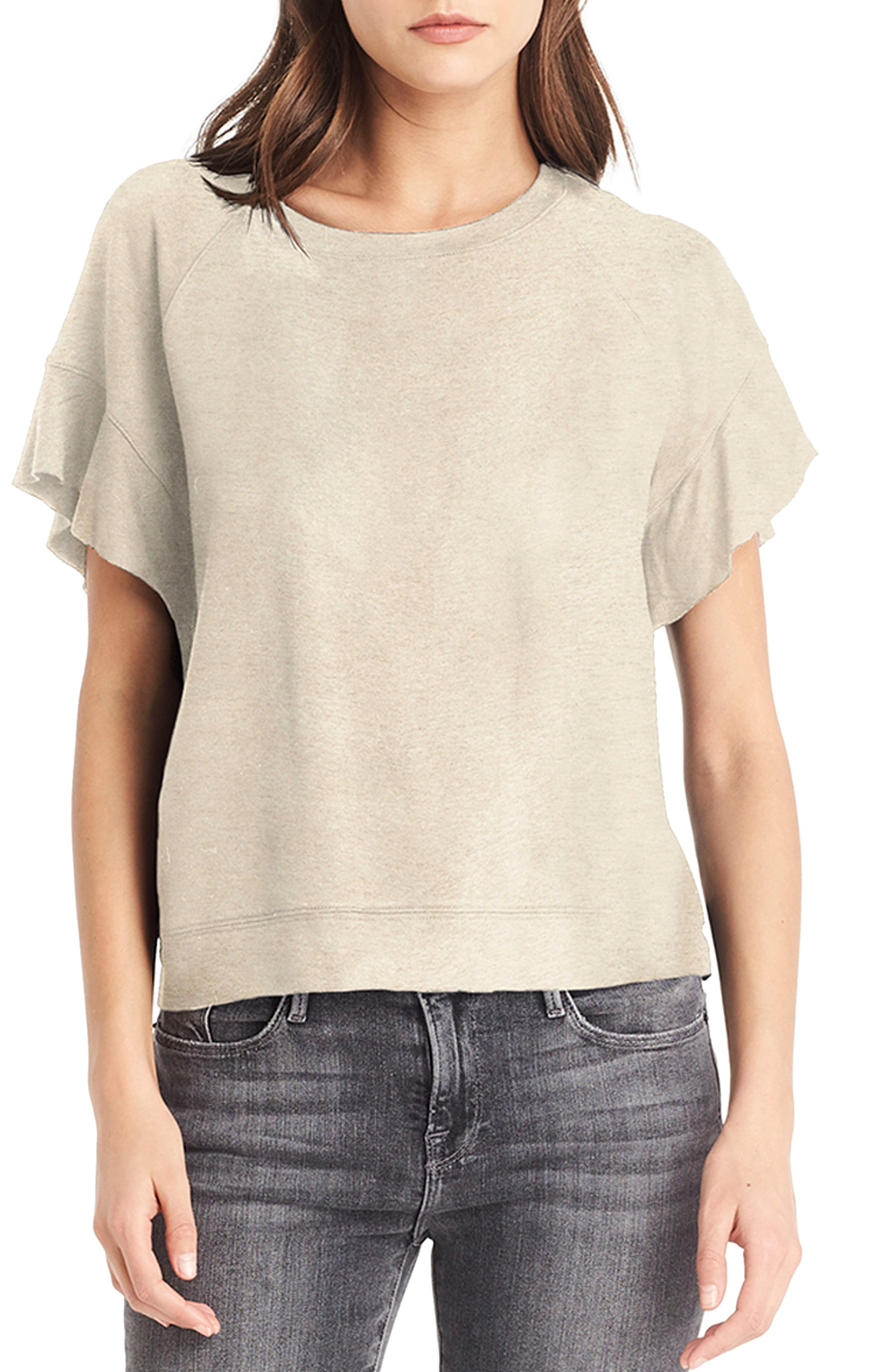 Alternate Image 1 Selected - Michael Stars Flutter Sleeve Sweatshirt