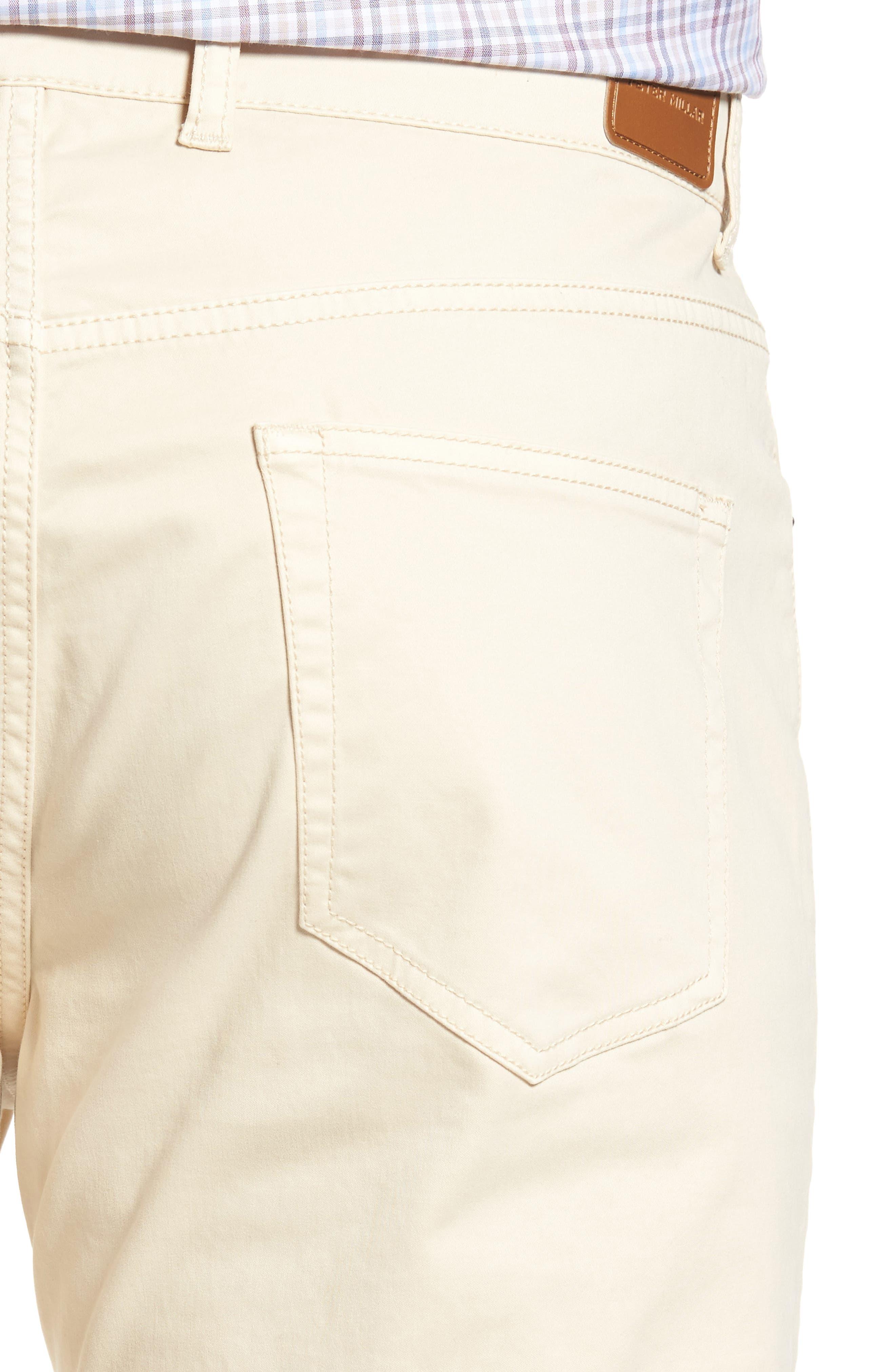 Stretch Sateen Five-Pocket Pants,                             Alternate thumbnail 4, color,                             Light Sand