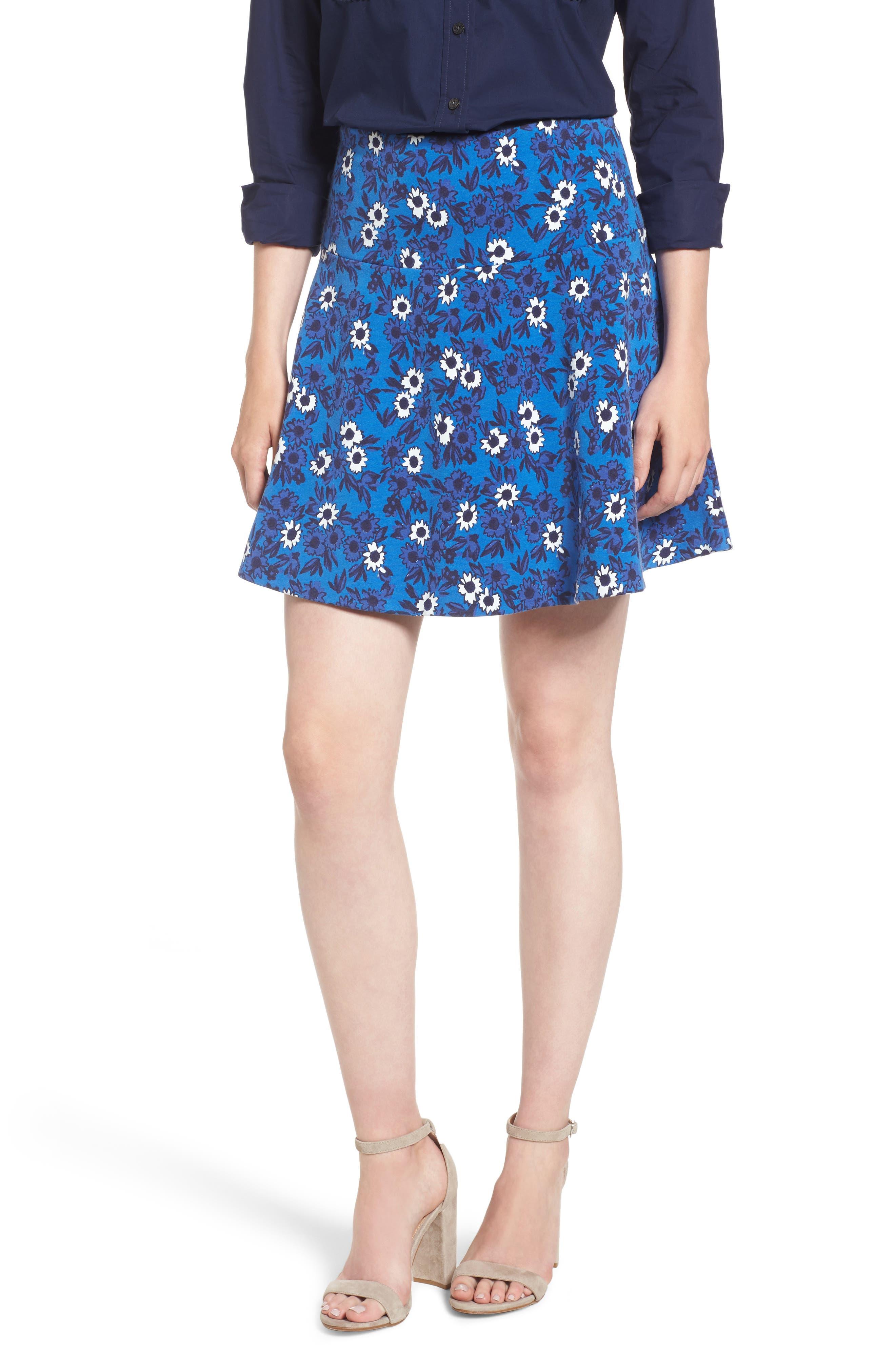 Draper James Pastoral Floral Knit Skirt