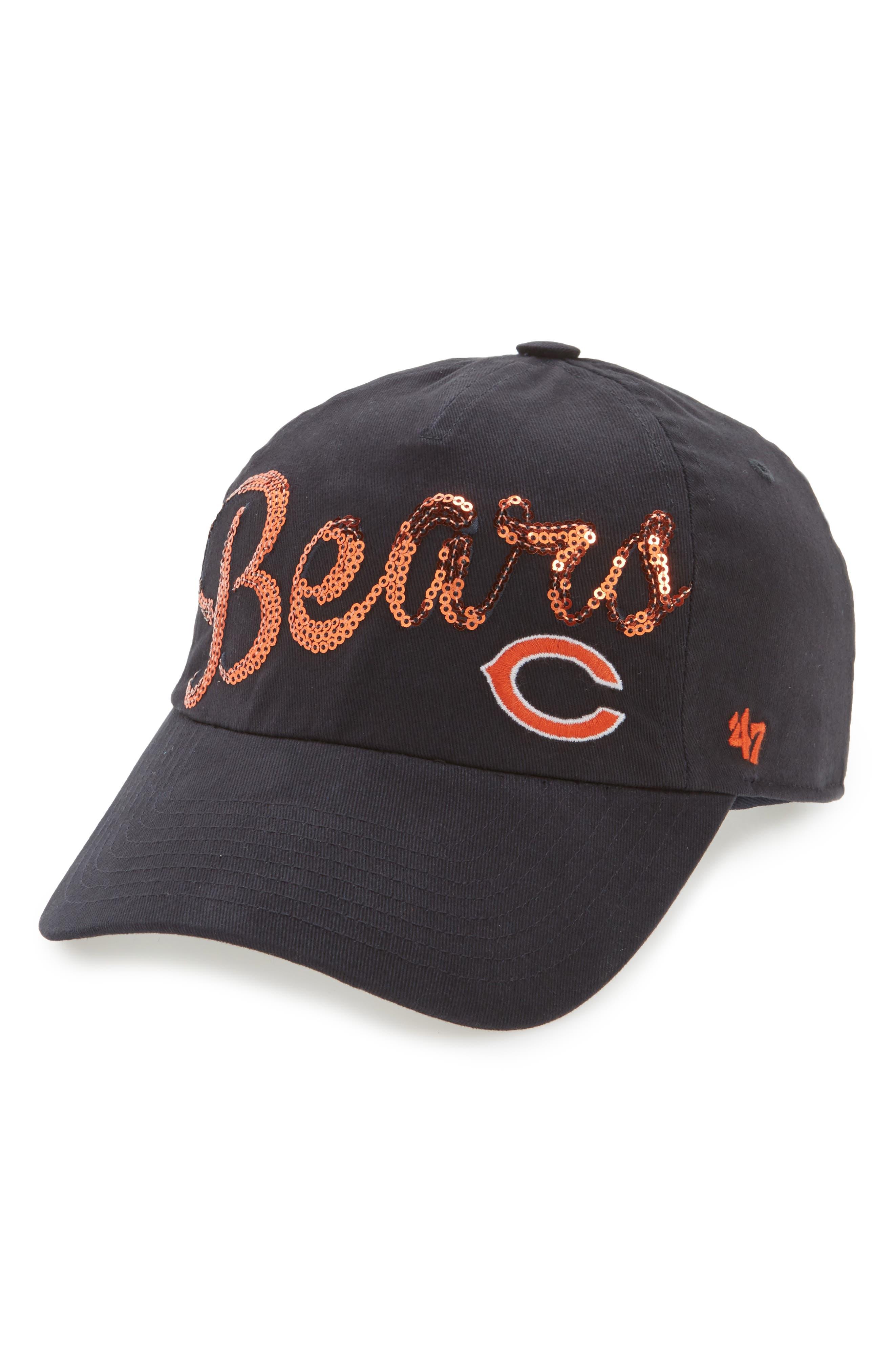 Chicago Bears Sparkle Cap,                             Main thumbnail 1, color,                             Navy