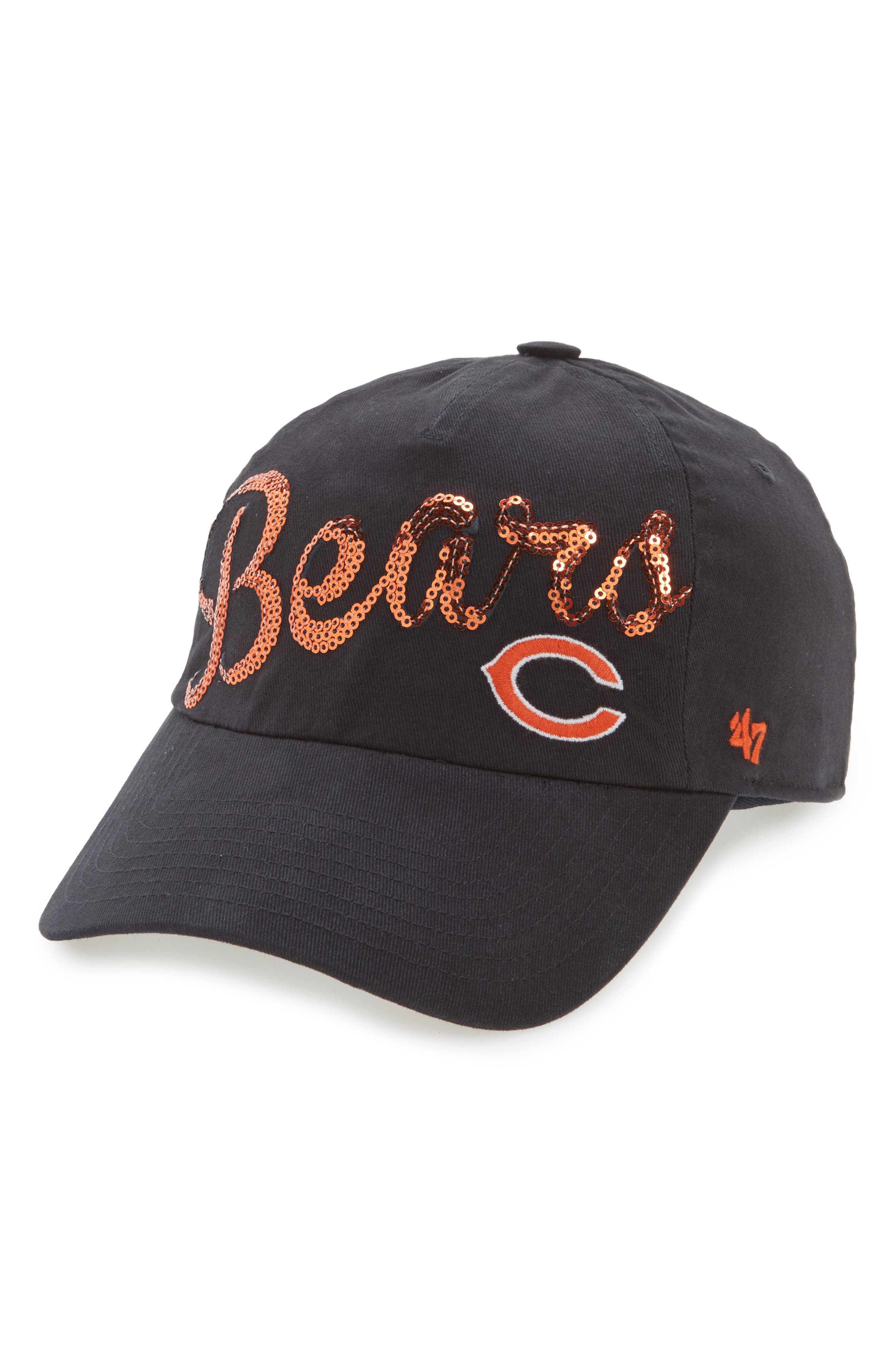 Chicago Bears Sparkle Cap,                         Main,                         color, Navy