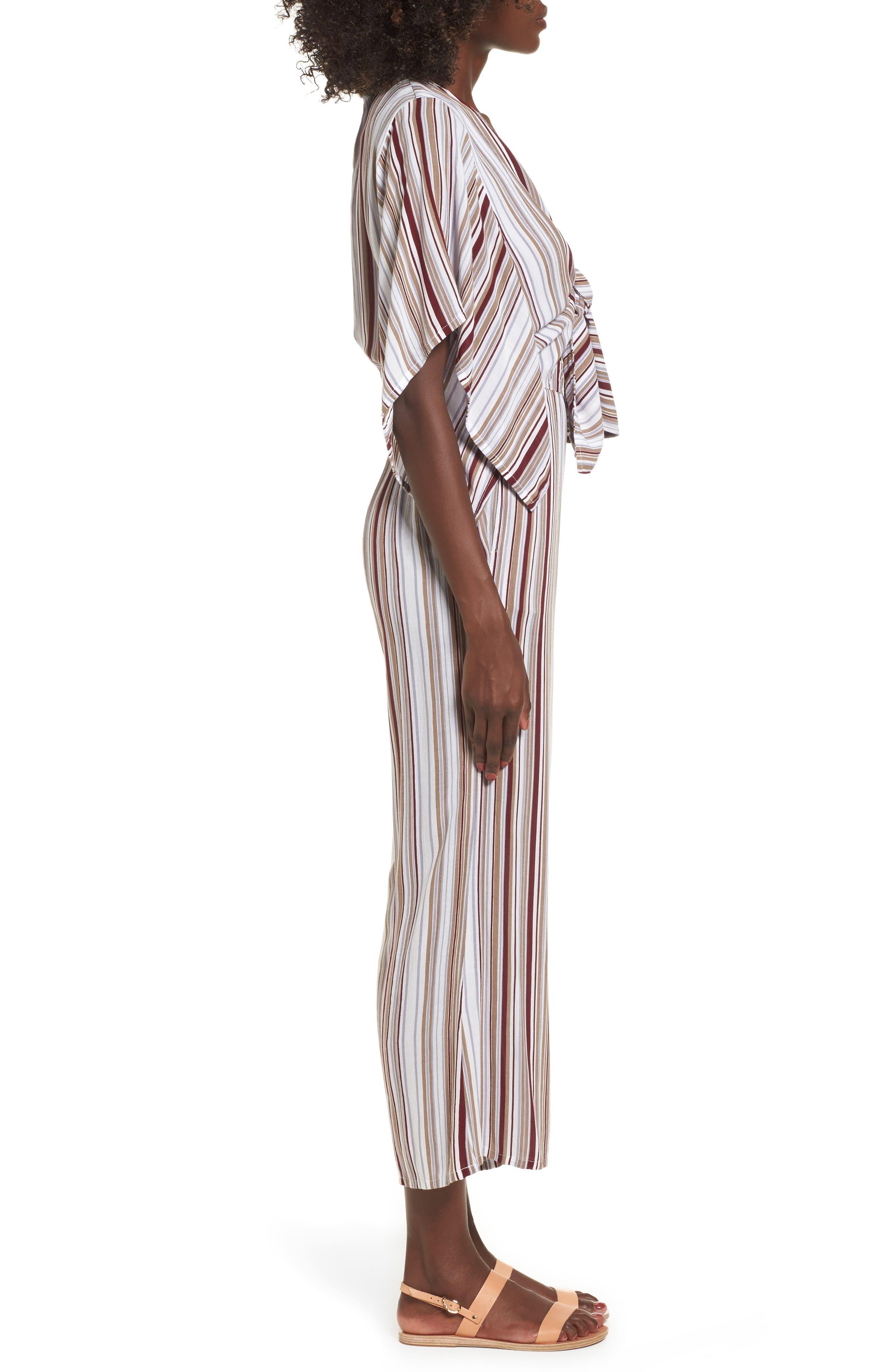 Alternate Image 3  - FAITHFULL THE BRAND Tilos Stripe Knotted Jumpsuit