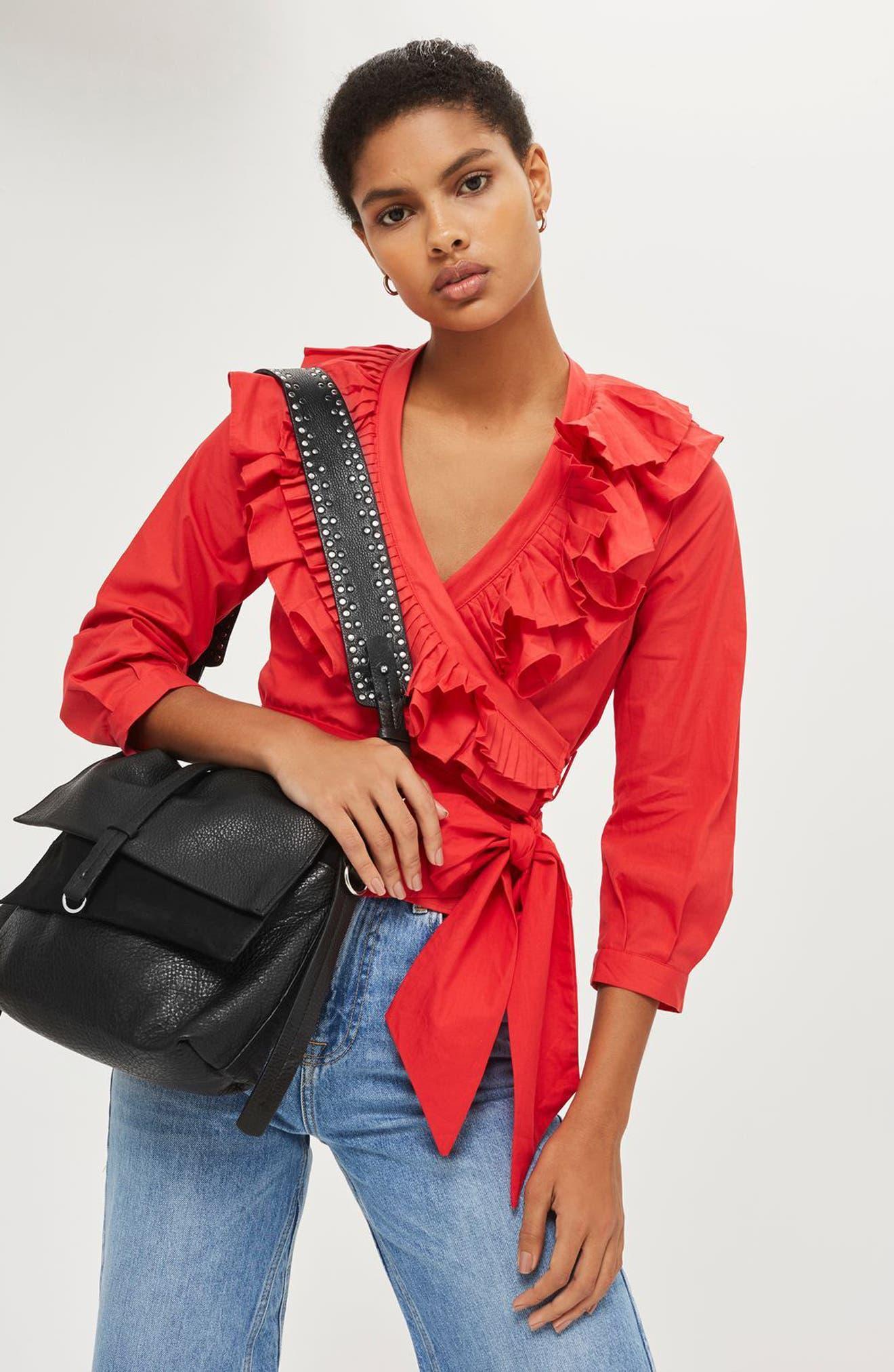 Premium Leather Studded Calfskin Hobo Bag,                             Alternate thumbnail 2, color,                             Black