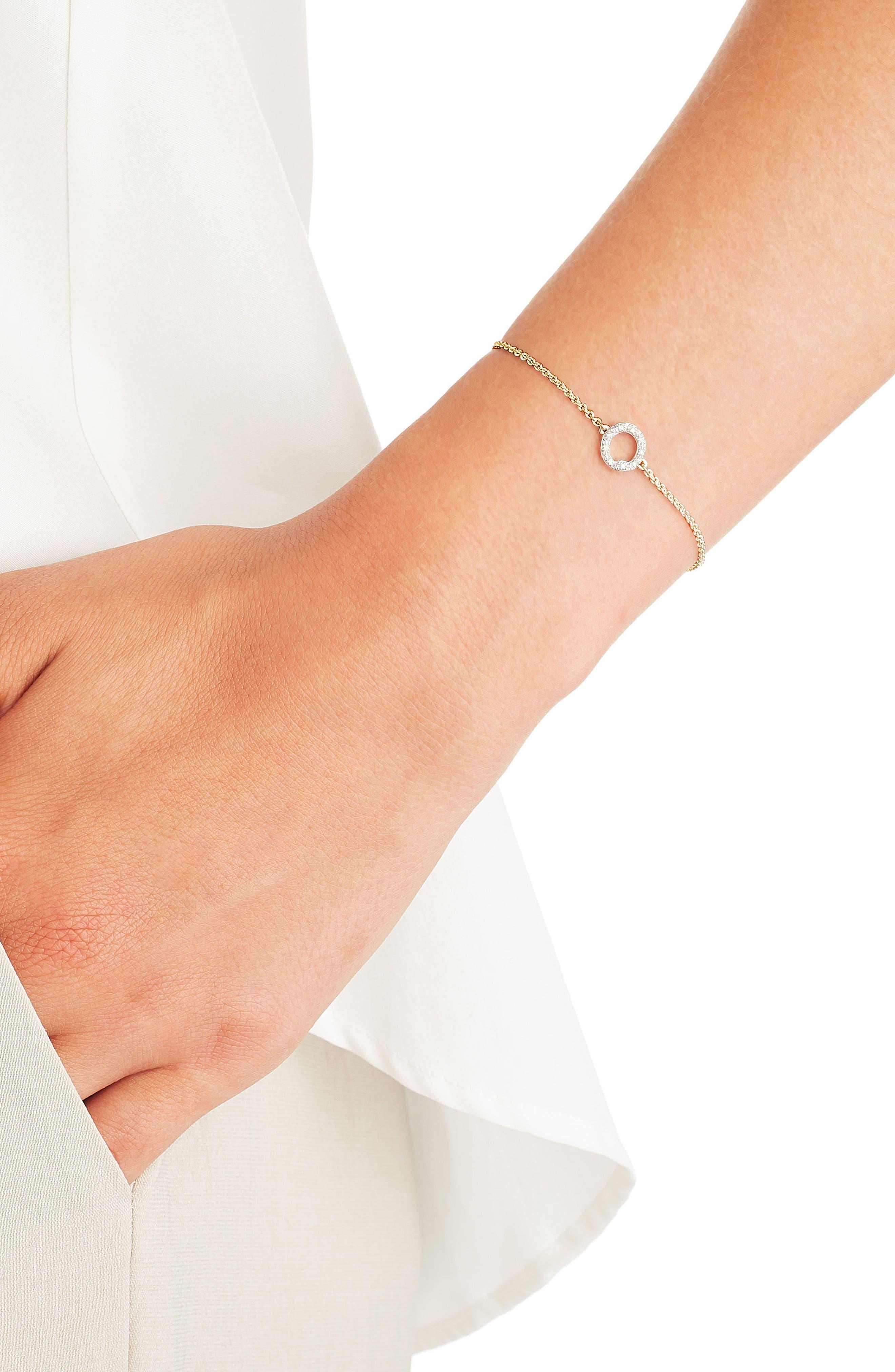Alternate Image 2  - Monica Vinader Riva Mini Circle Diamond Bracelet