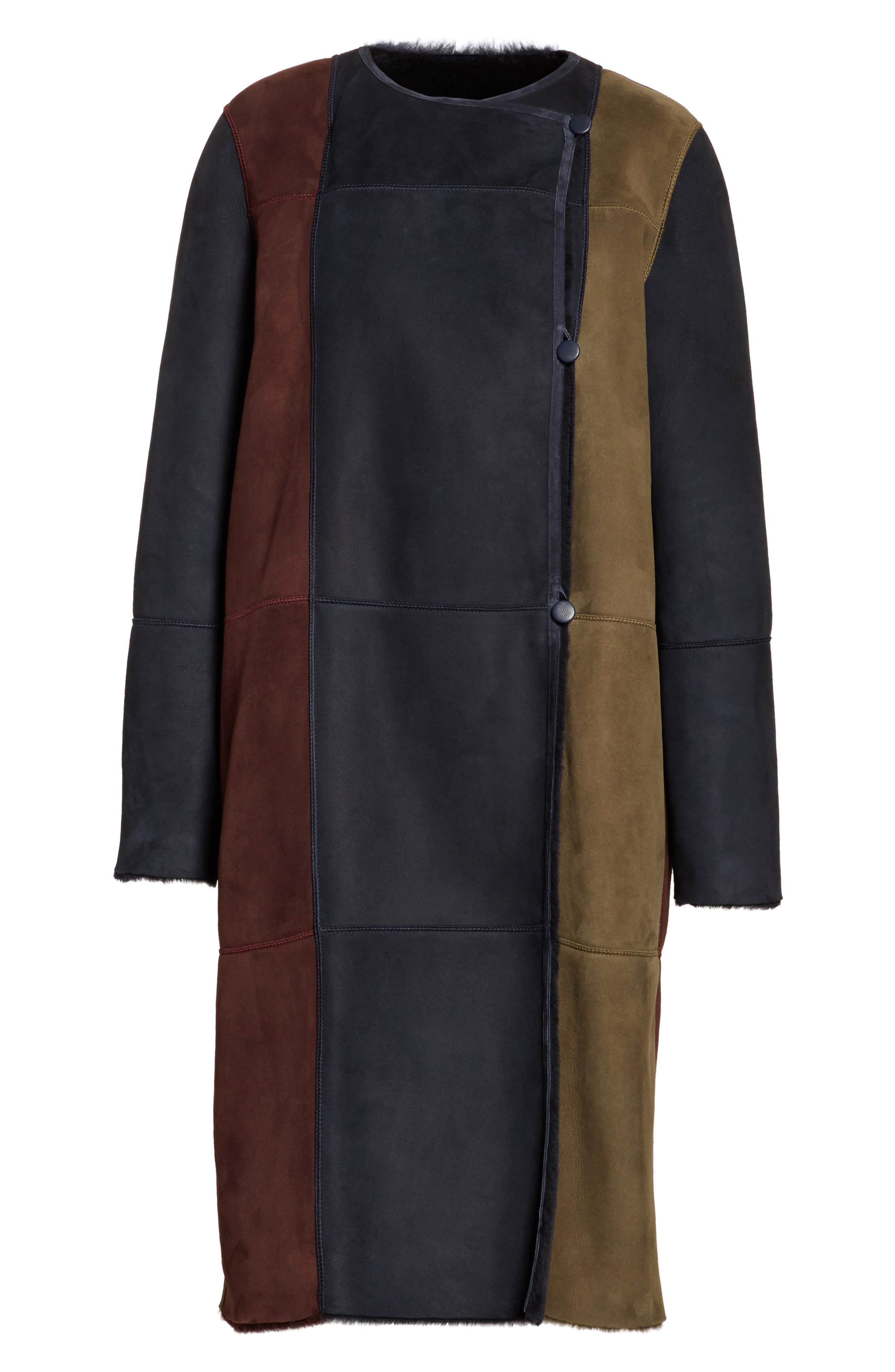 Alternate Image 6  - Lafayette 148 New York Robyn Reversible Genuine Shearling Coat