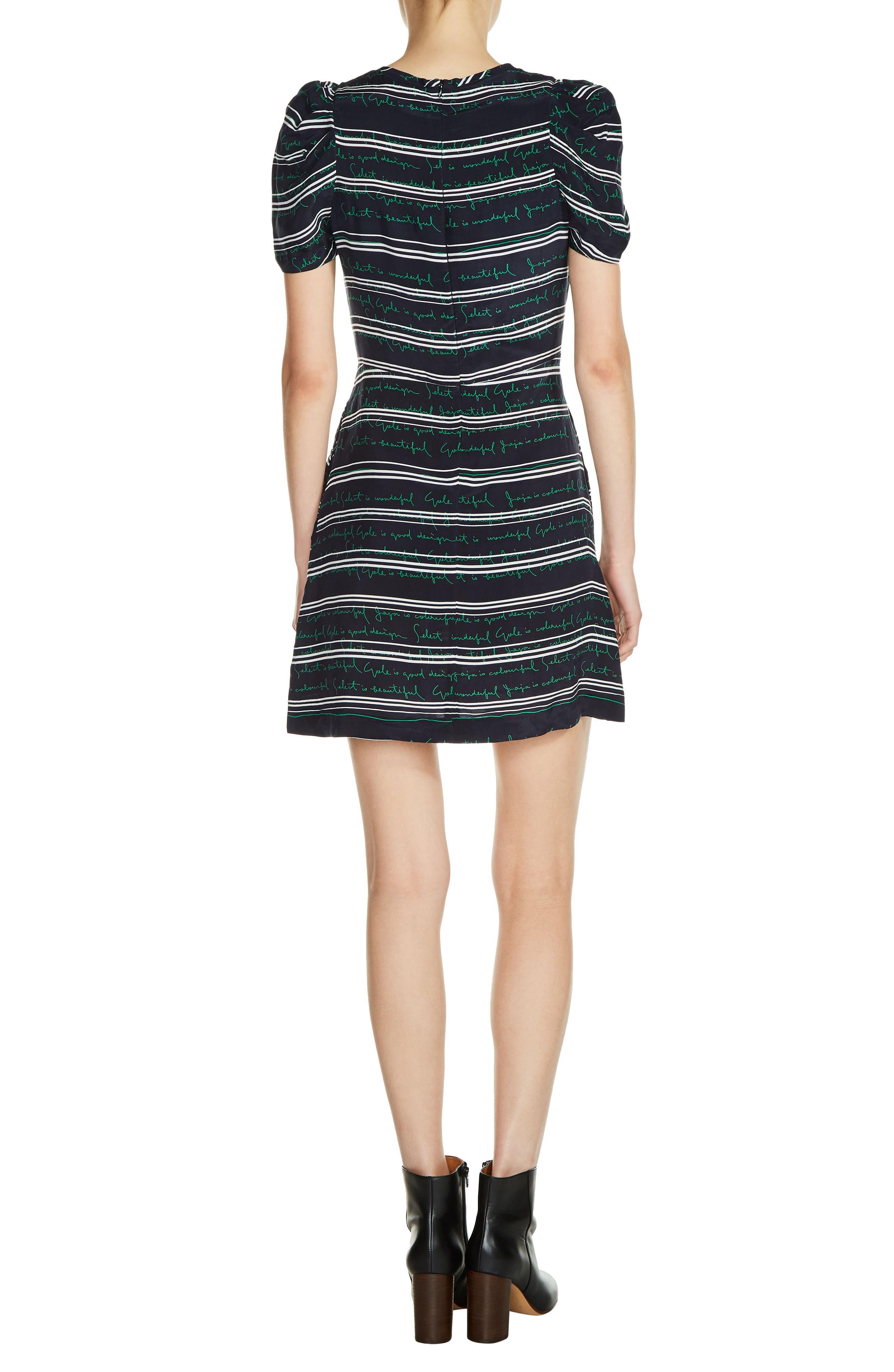 Alternate Image 2  - maje Stripe A-Line Dress