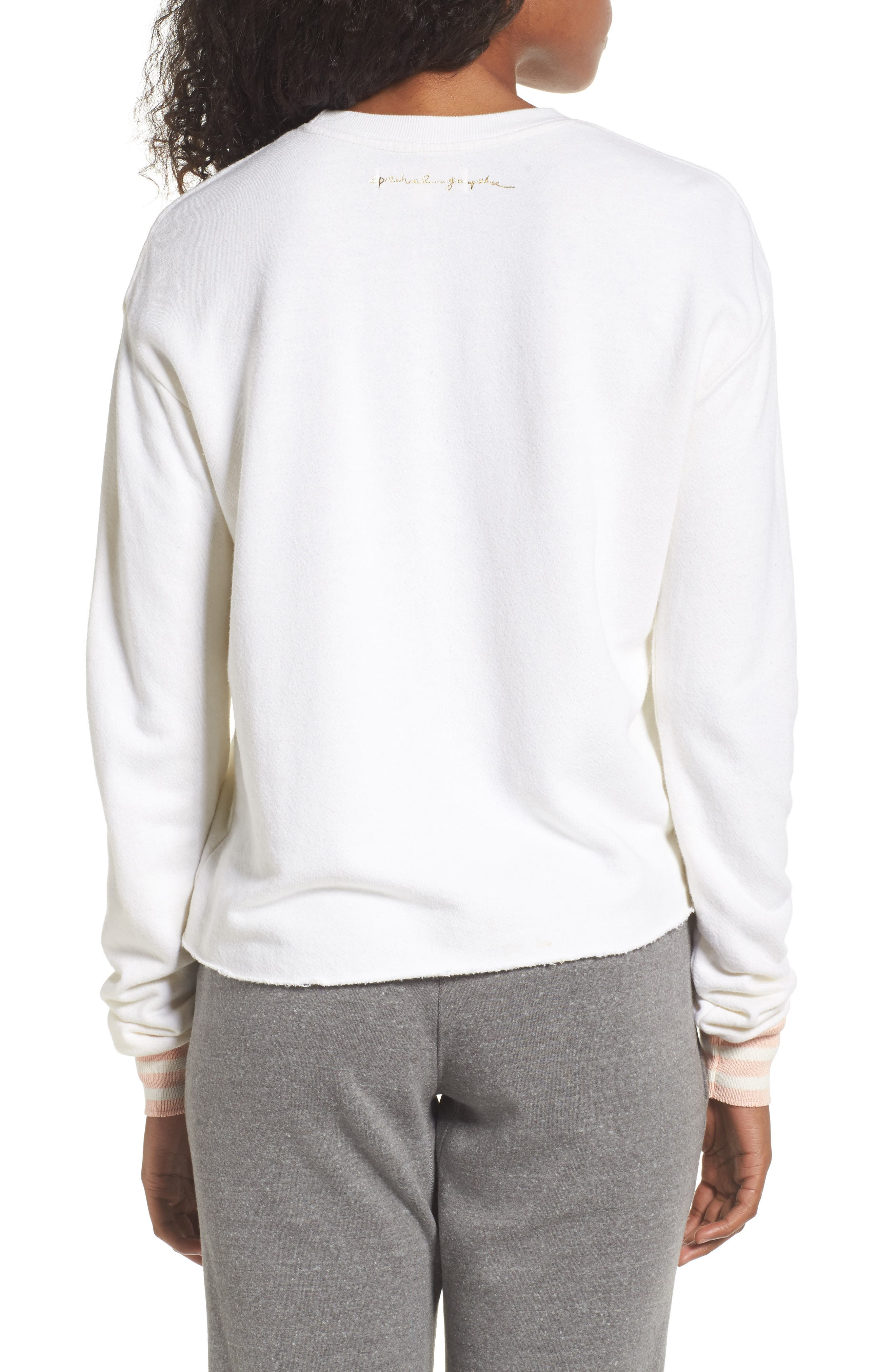 Free Spirit Crop Sweatshirt,                             Alternate thumbnail 2, color,                             Stardust