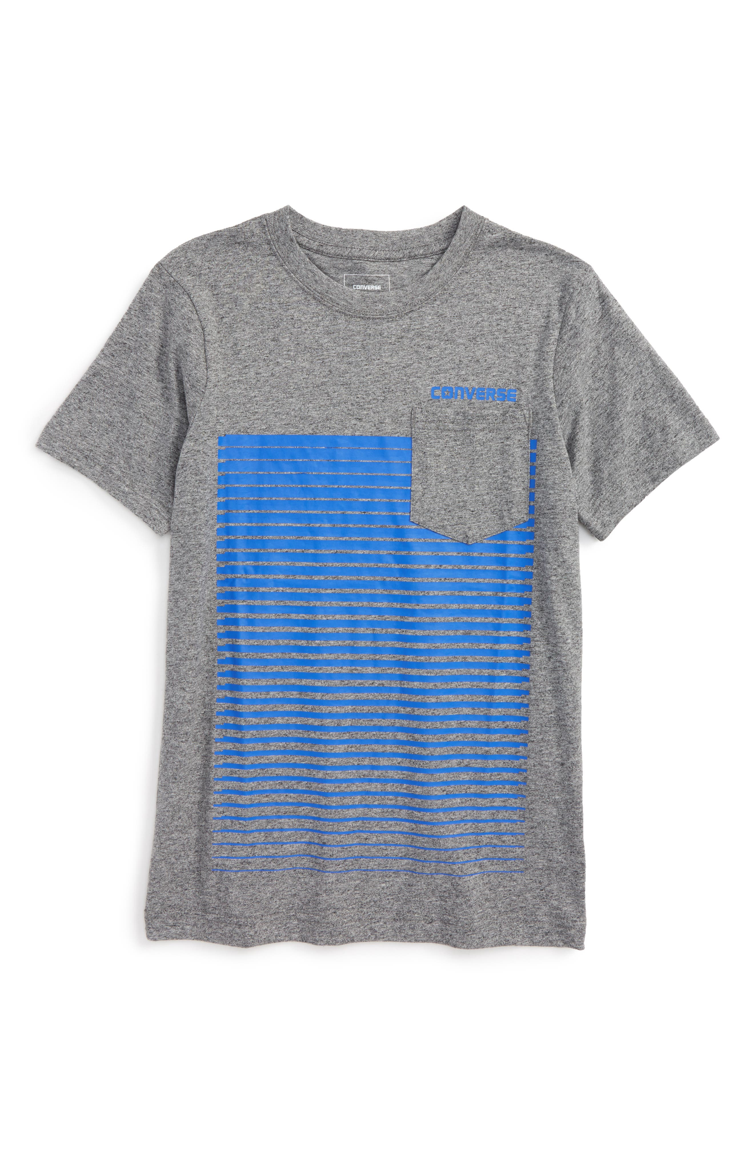 Converse Linear Ombré Pocket T-Shirt (Big Boys)