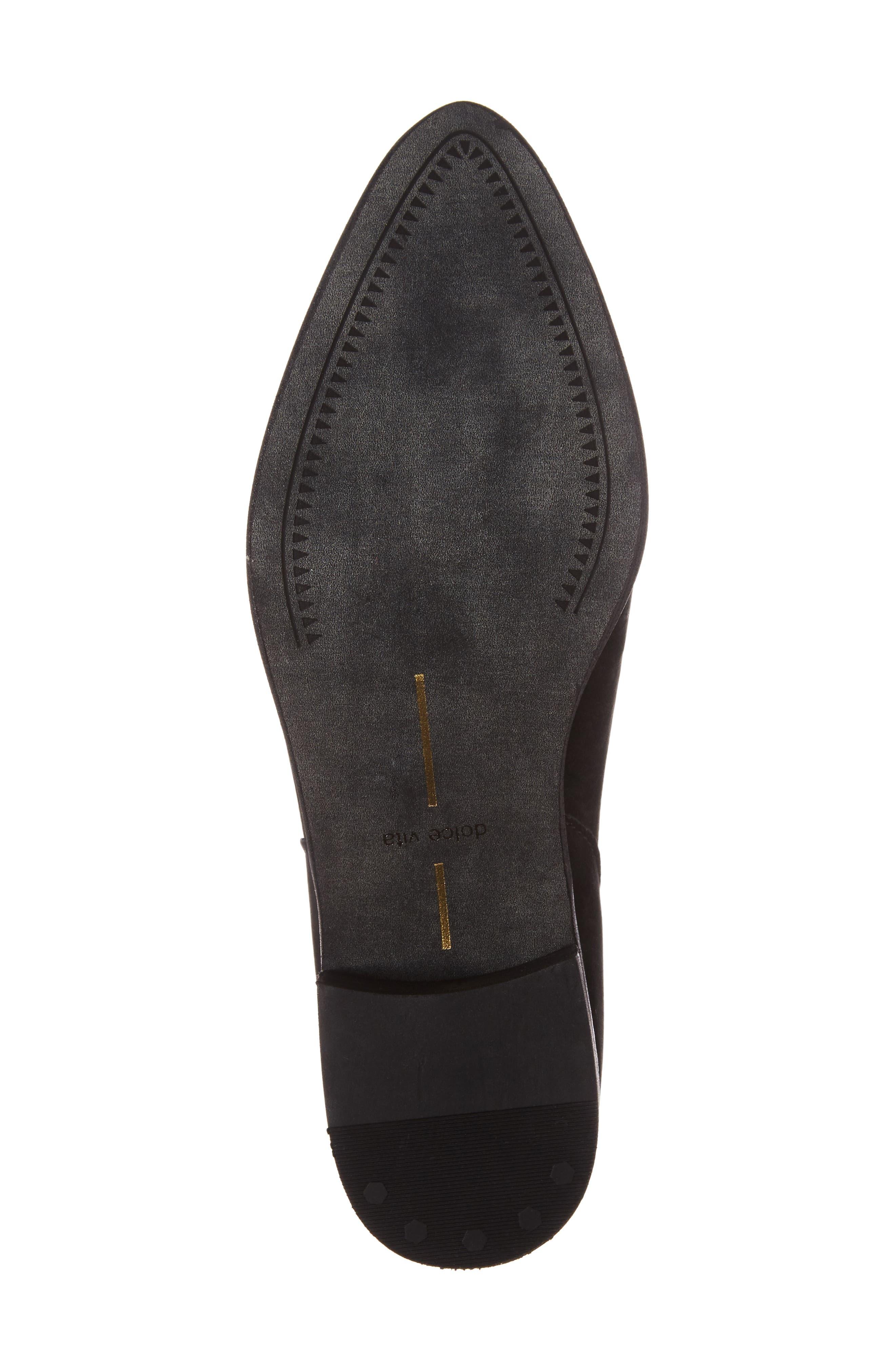 Cassius Block Heel Bootie,                             Alternate thumbnail 6, color,                             Black Nubuck Leather