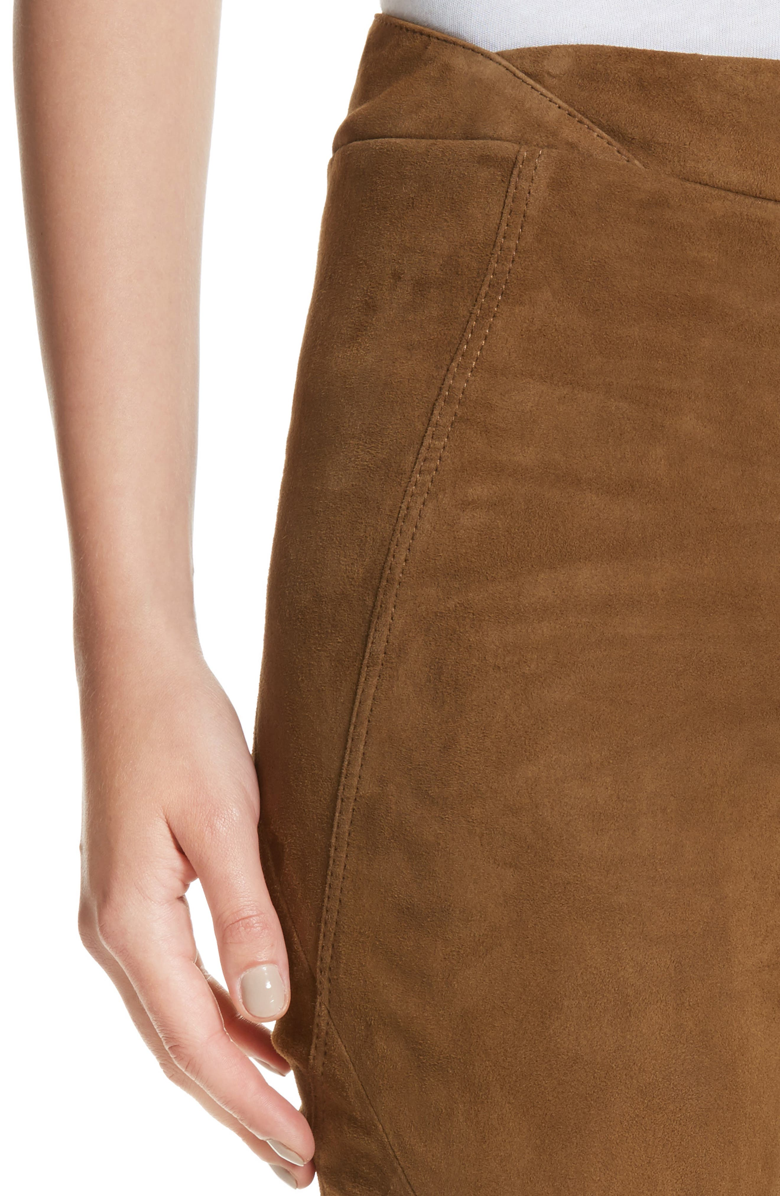Brooklyn Suede Pants,                             Alternate thumbnail 7, color,                             Sequoia