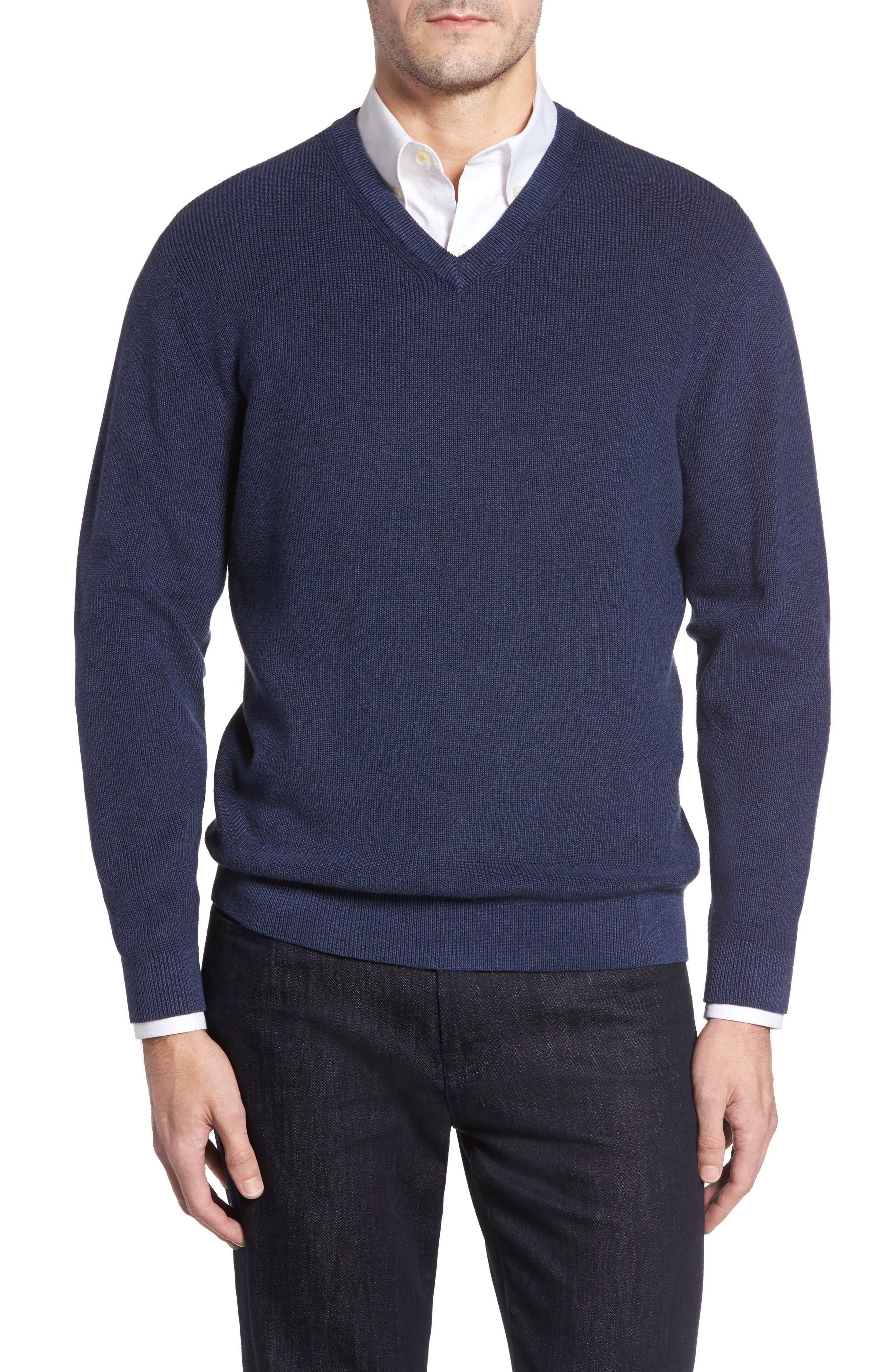 Las Palmas Reversible Sweater,                         Main,                         color, Downpour Heather