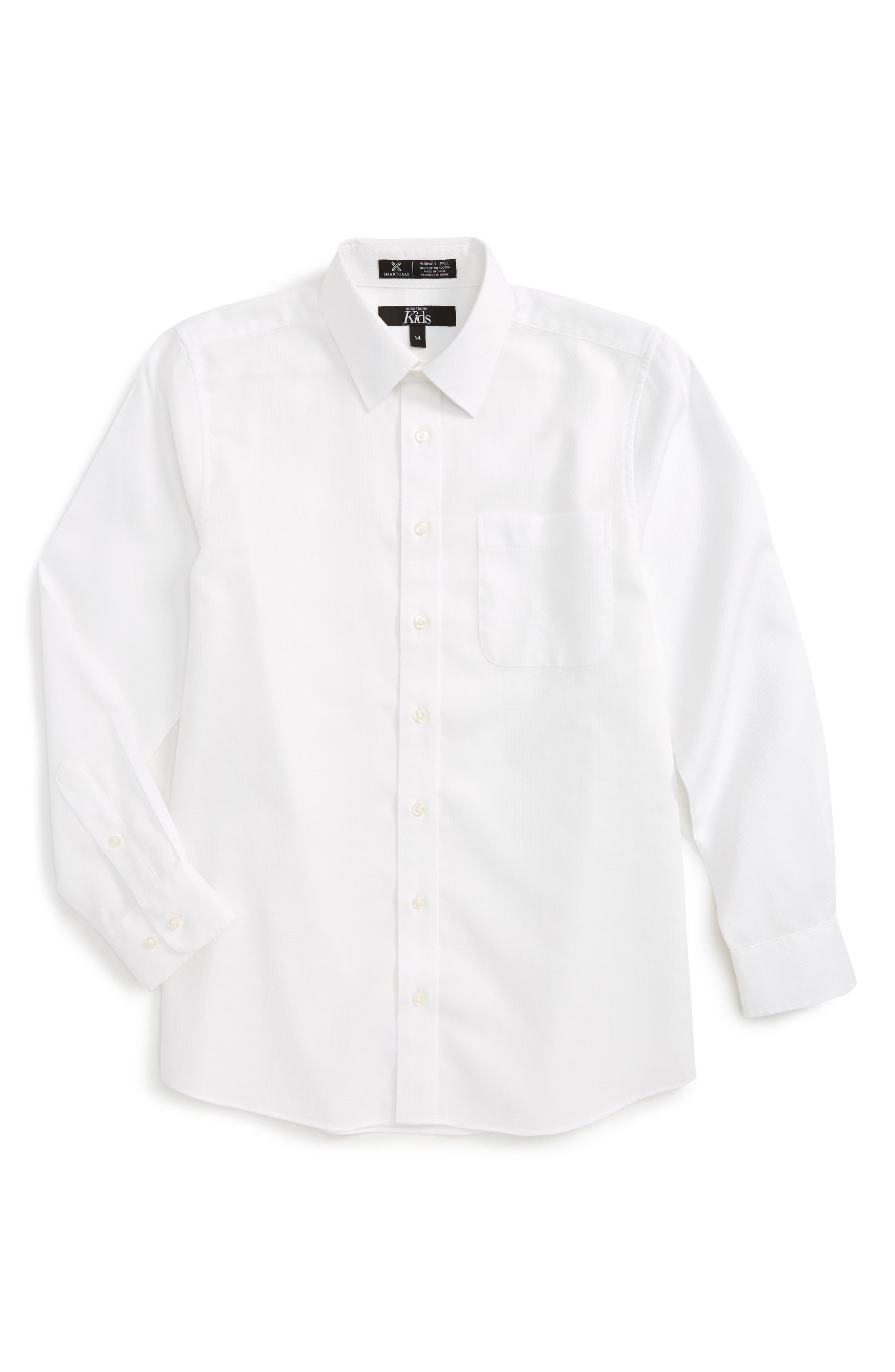 Main Image - Nordstrom Smartcare™ Honeycomb Dress Shirt (Big Boys)