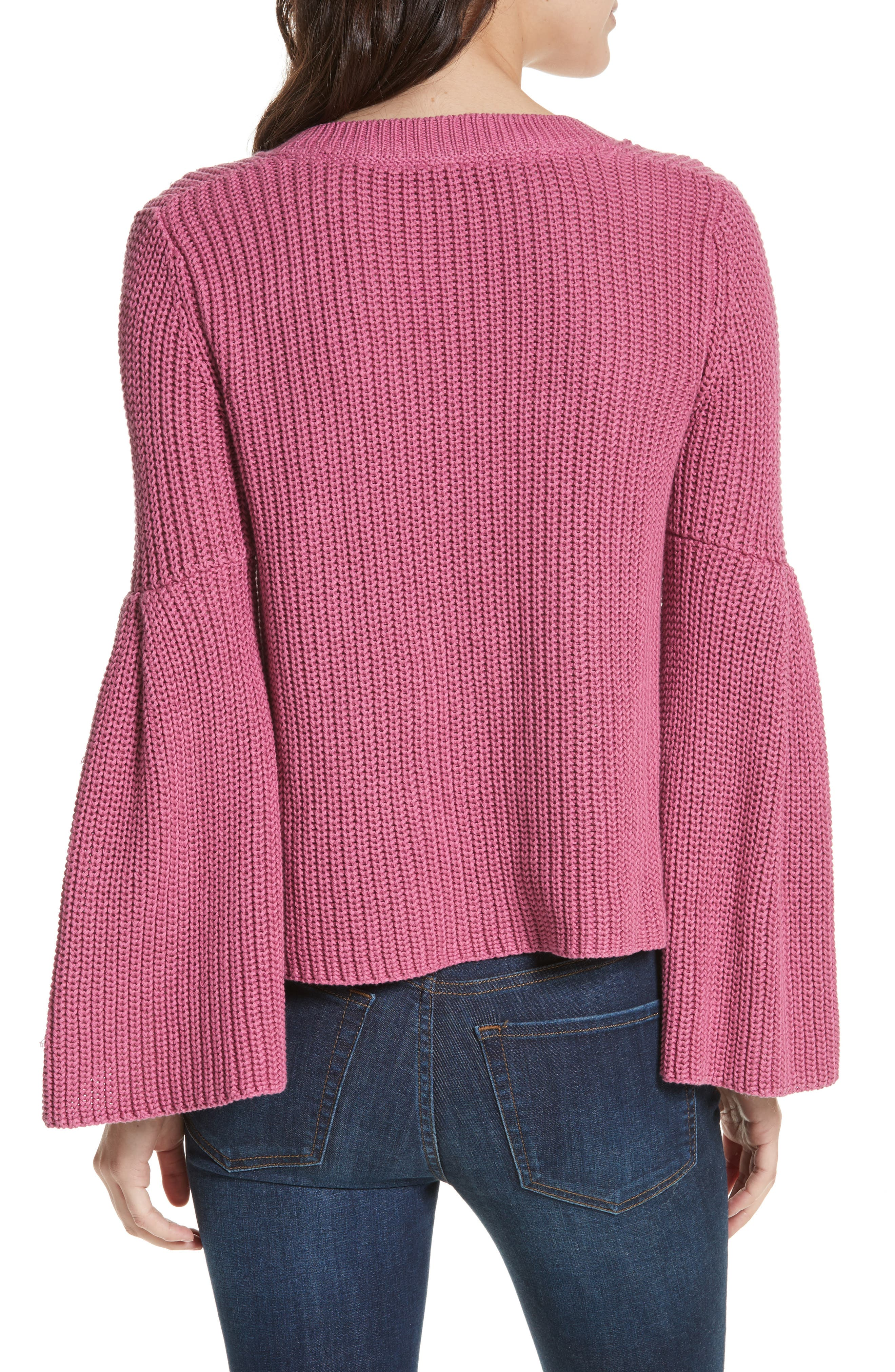 Damsel Bell Sleeve Pullover,                             Alternate thumbnail 2, color,                             Rose